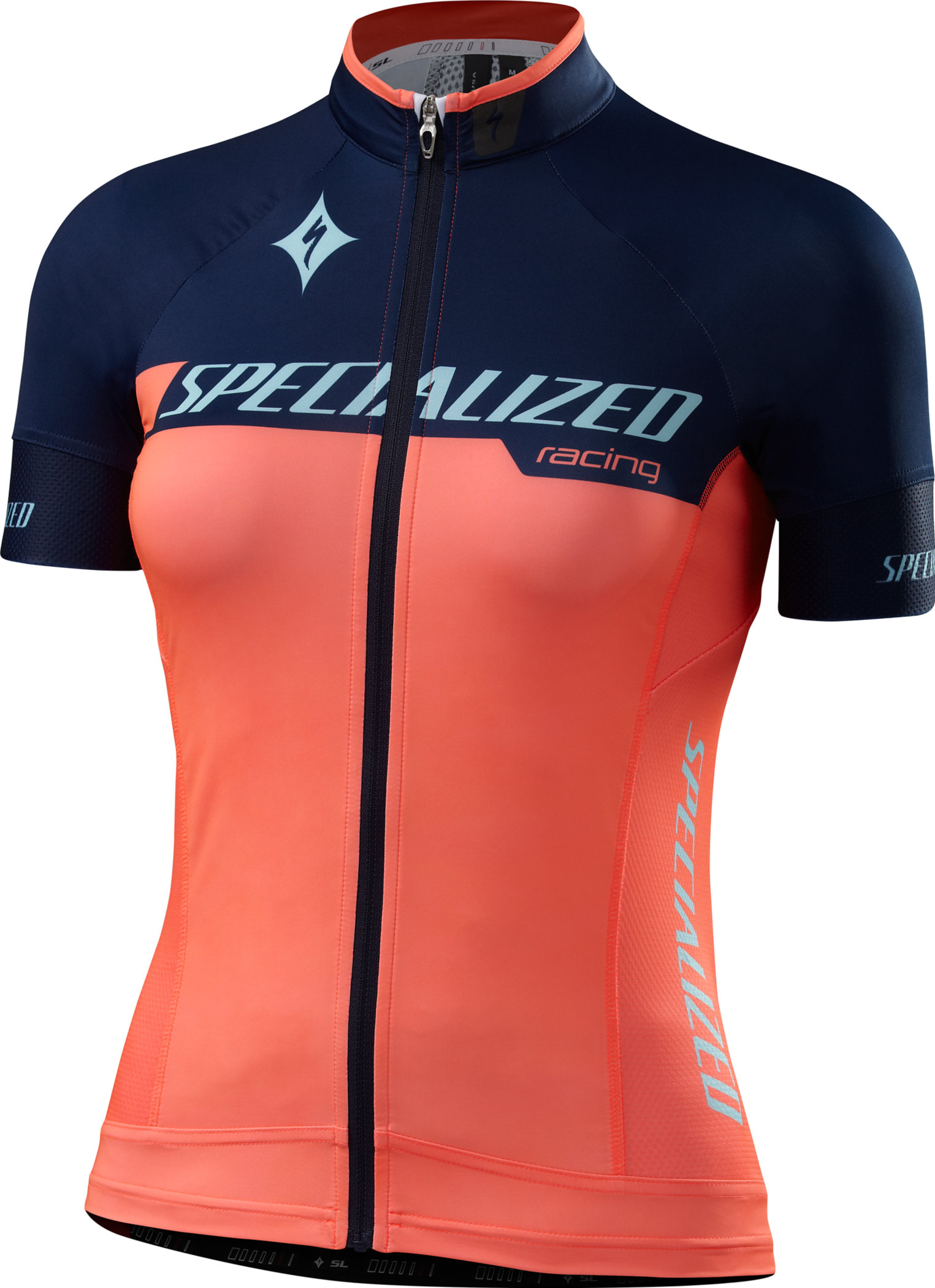 Specialized WOMEN´S SL PRO JERSEY  Team Neon Coral/Navy Large - Alpha Bikes
