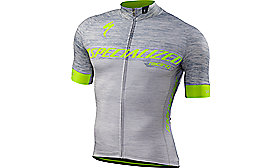 SL EXPERT JERSEY SHORT SLEEVE GRY/NEON YEL TEAM S
