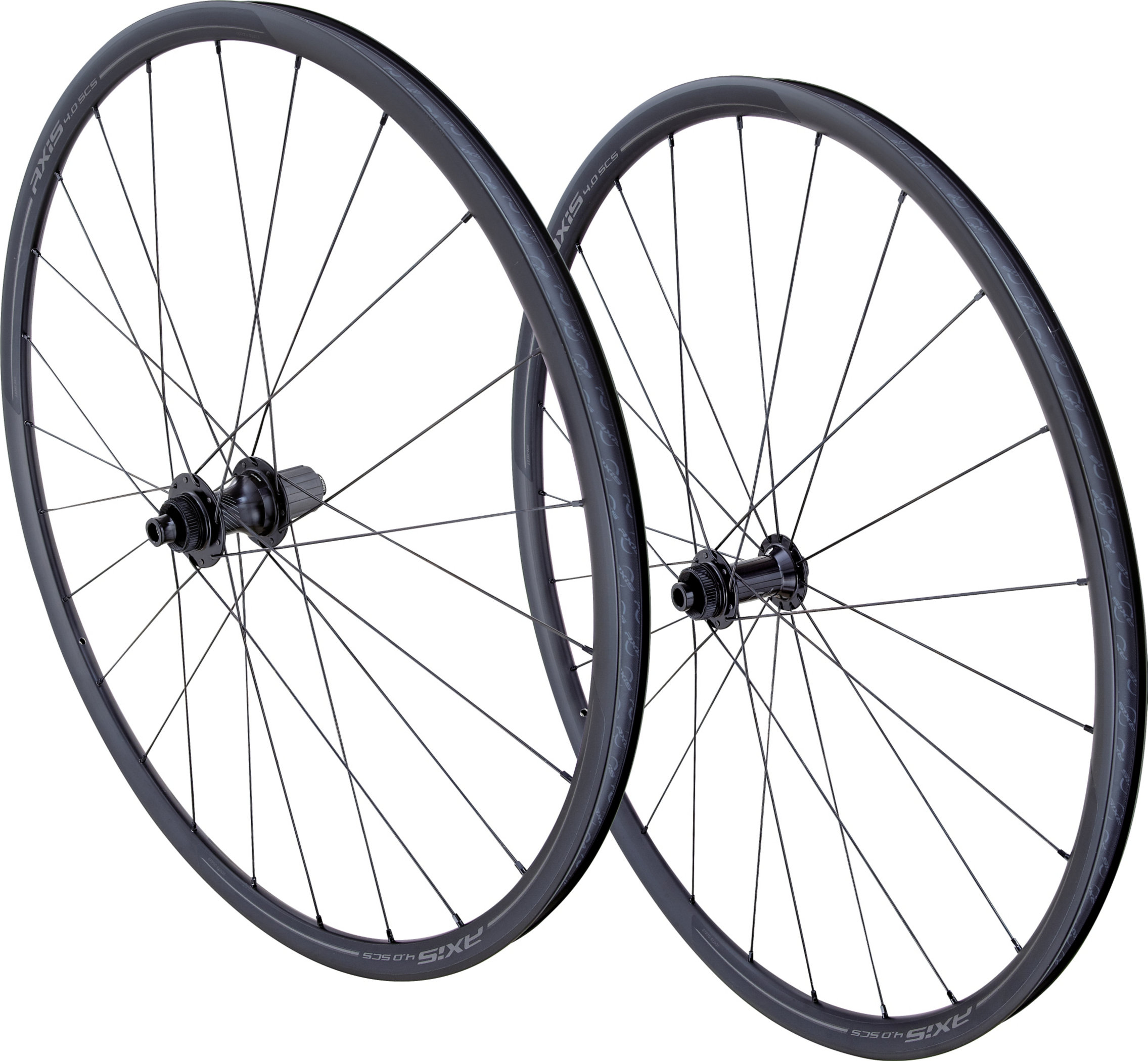 SPECIALIZED AXIS 4.0 DISC SCS TA WHEELSET BLK ANO/CHAR - Alpha Bikes
