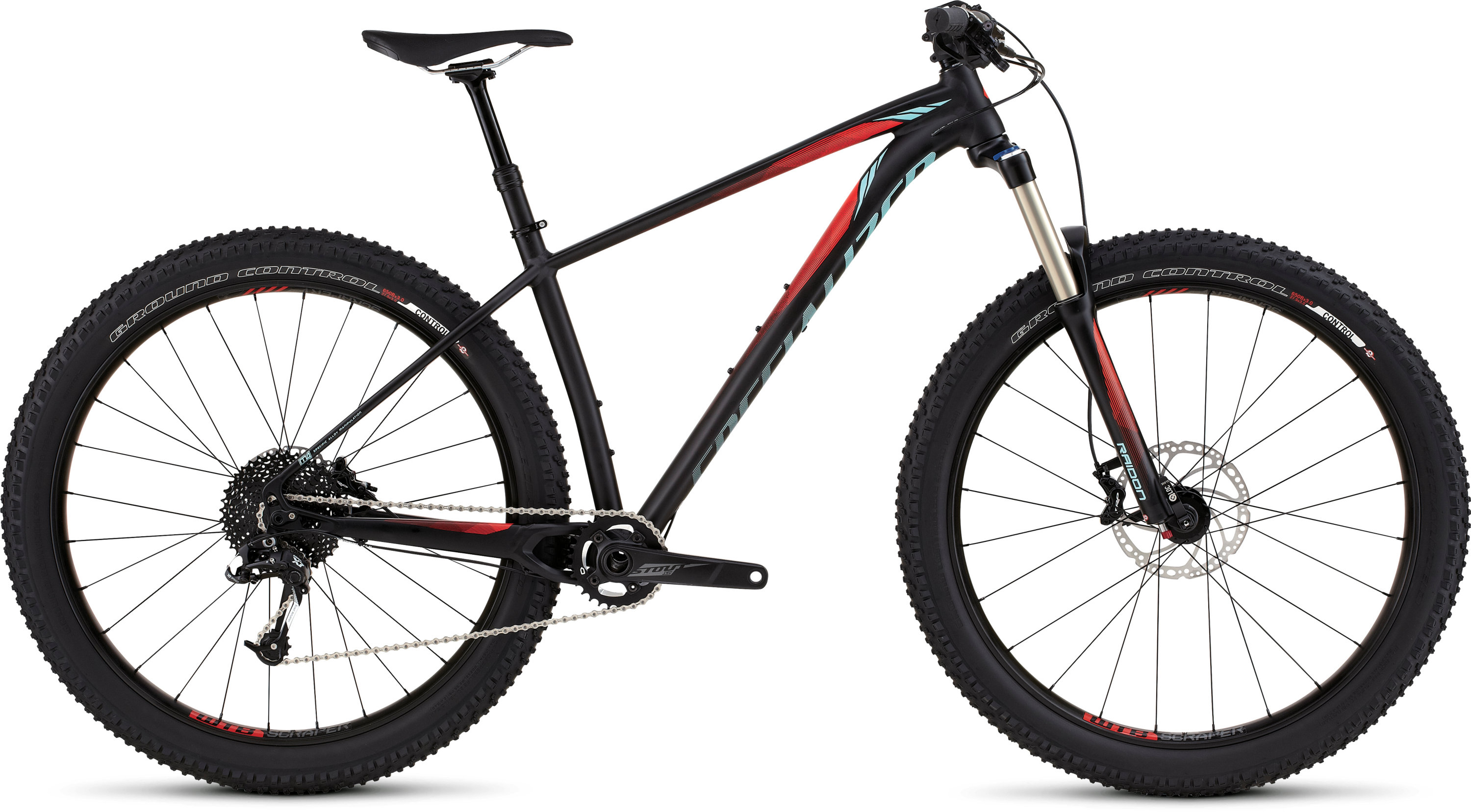 SPECIALIZED FUSE COMP 6FATTIE BLK/RKTRED/TEAL S - Bikedreams & Dustbikes