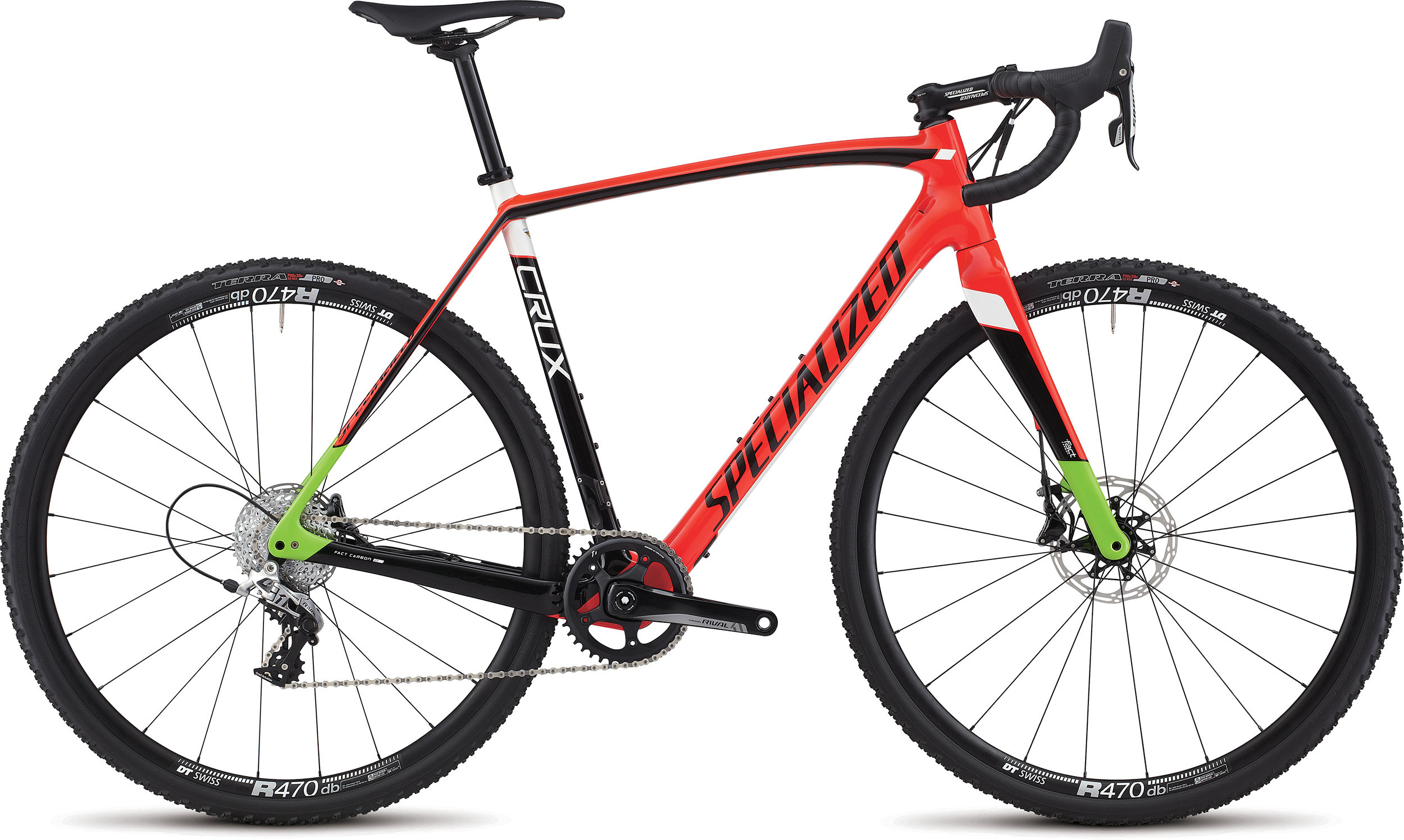 SPECIALIZED CRUX ELITE X1 RKTRED/TARBLK/MONGRN 46 - Bike Zone