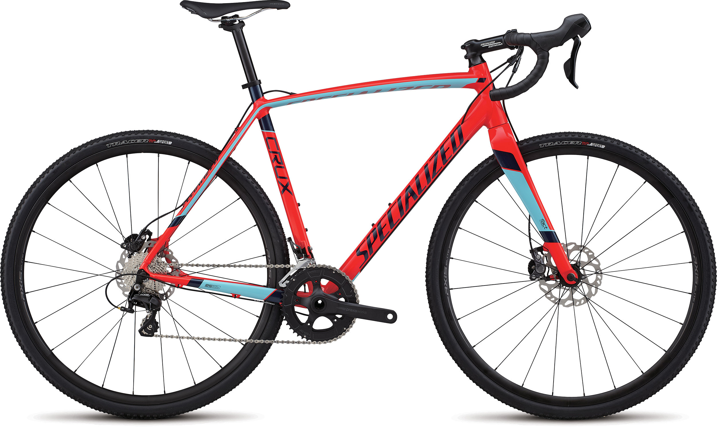 Specialized CruX Sport E5 GLOSS ROCKET RED/ LIGHT BLUE/ NAVY 61 - Bike Maniac