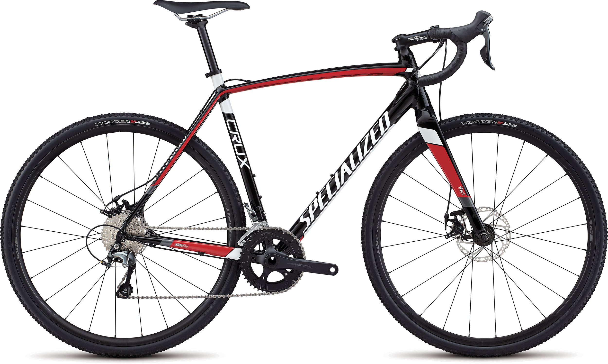 Specialized CruX E5 TARMAC BLACK/FLO RED/METALLIC WHITE 46 - Pulsschlag Bike+Sport