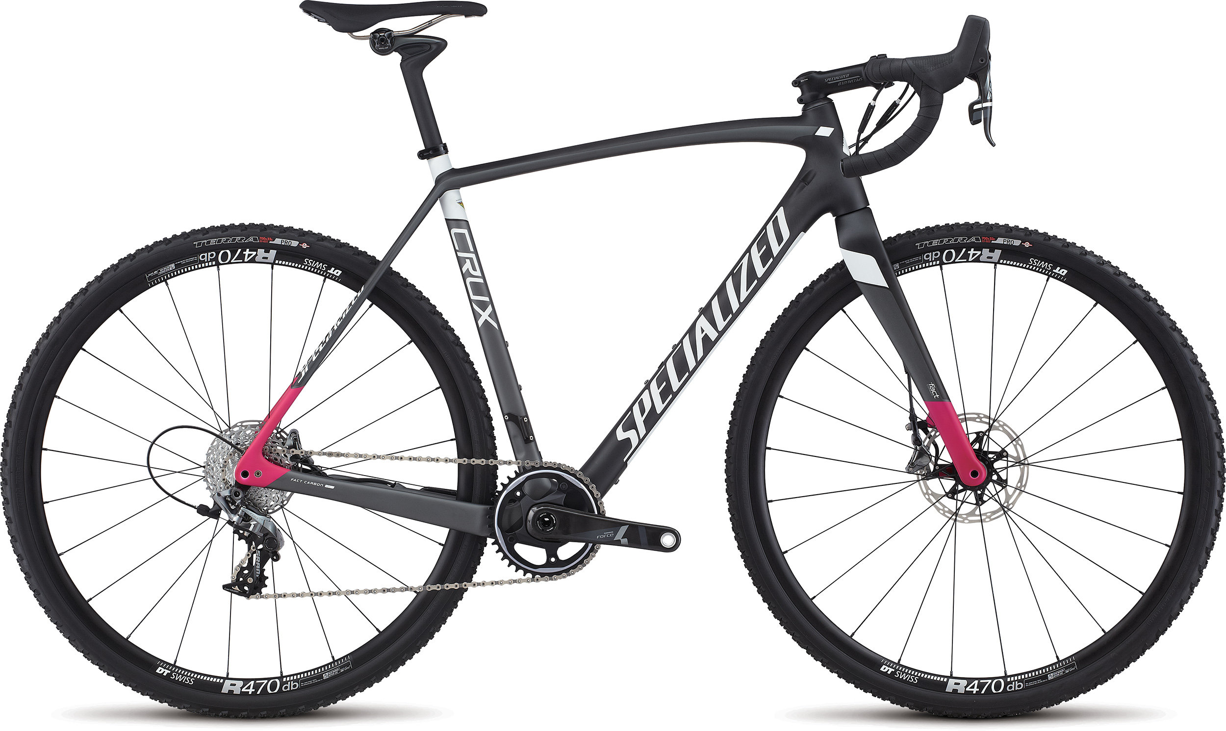 SPECIALIZED CRUX EXPERT X1 CARB/CHAR/BRTPNK 46 - Bike Zone