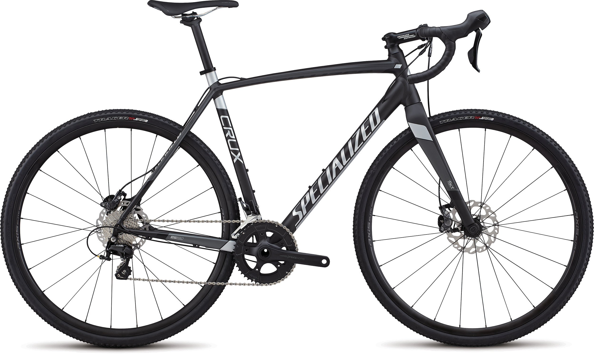 Specialized CruX Sport E5 SATIN NEARLY BLACK / CHARCOAL / FLAKE SILVER 52 - Specialized CruX Sport E5 SATIN NEARLY BLACK / CHARCOAL / FLAKE SILVER 52