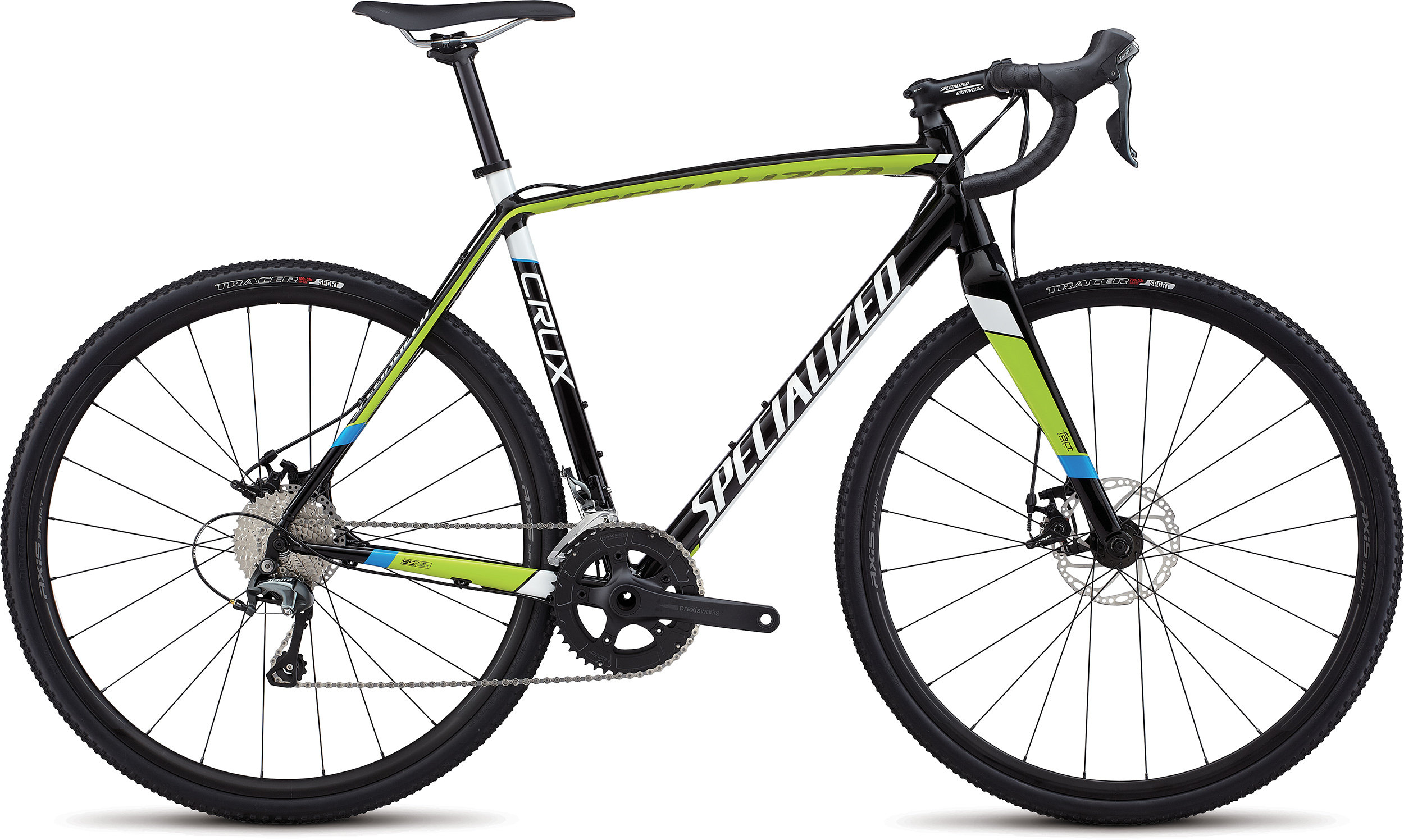 Specialized CruX E5 TARMAC BLACK / HYPER / METALLIC WHITE 49 - Bike Maniac