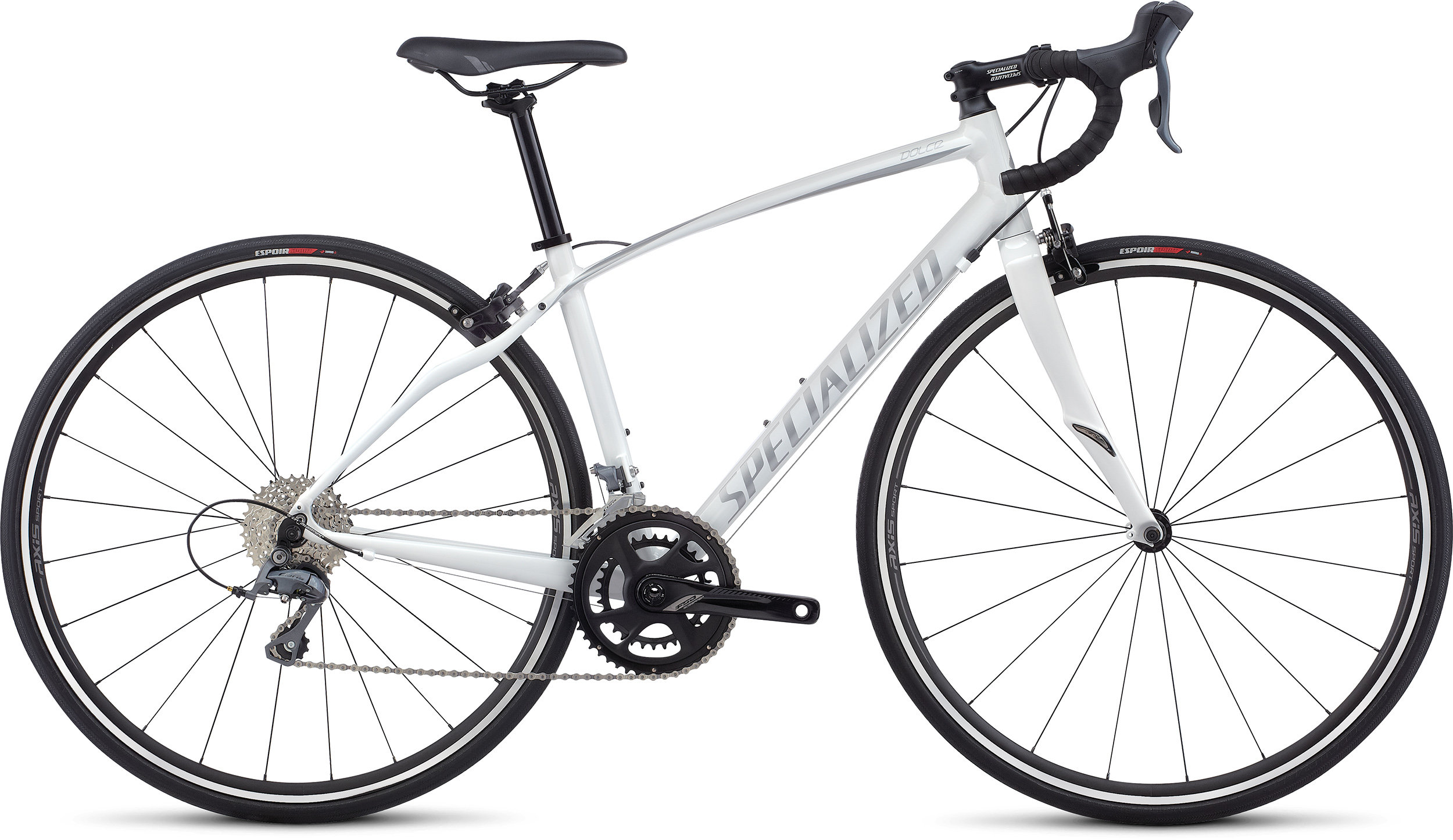 SPECIALIZED DOLCE WHT/FLKSIL 44 - Bike Zone
