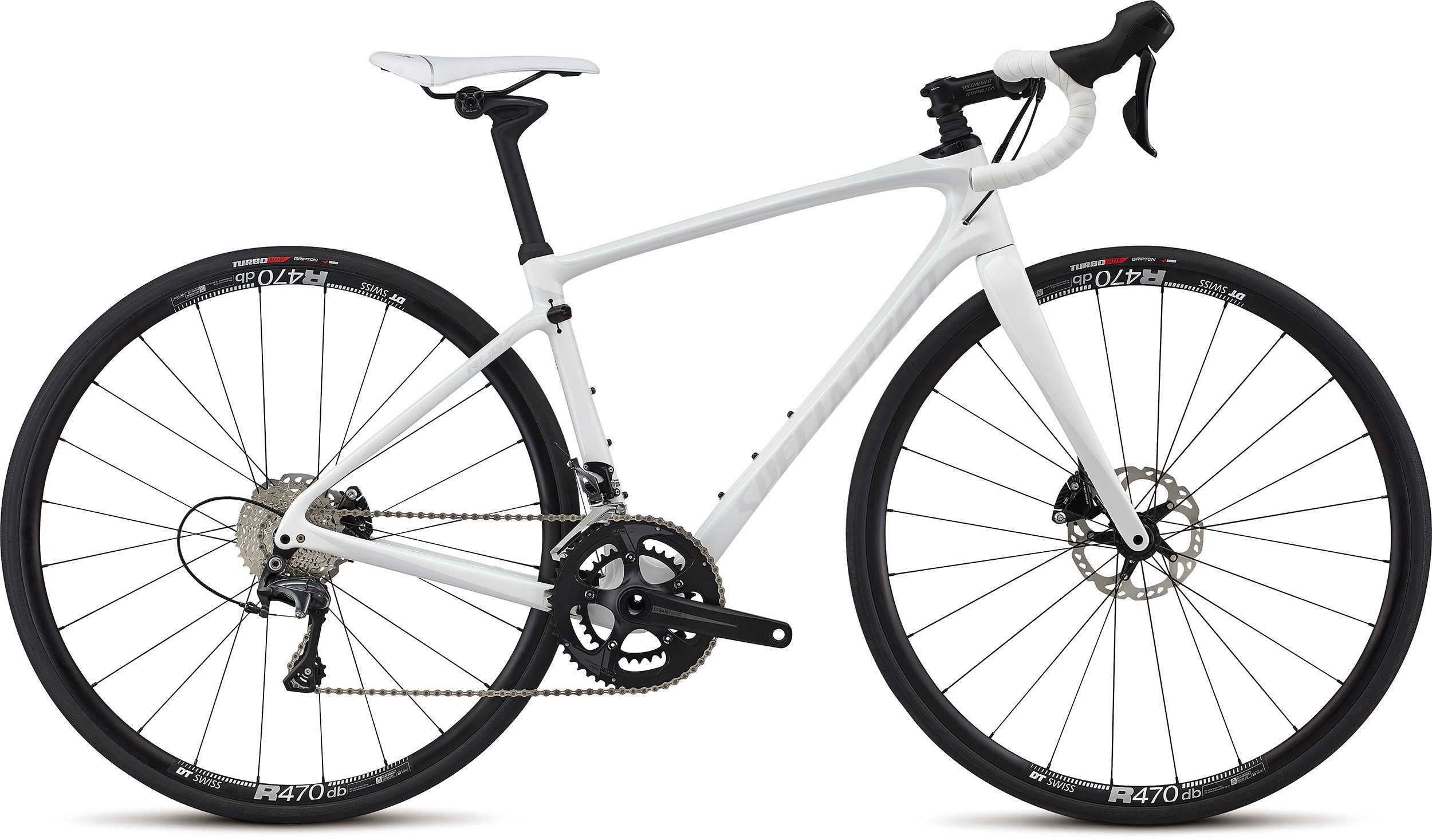 SPECIALIZED RUBY COMP WHT/METWHTSIL 56 - Alpha Bikes