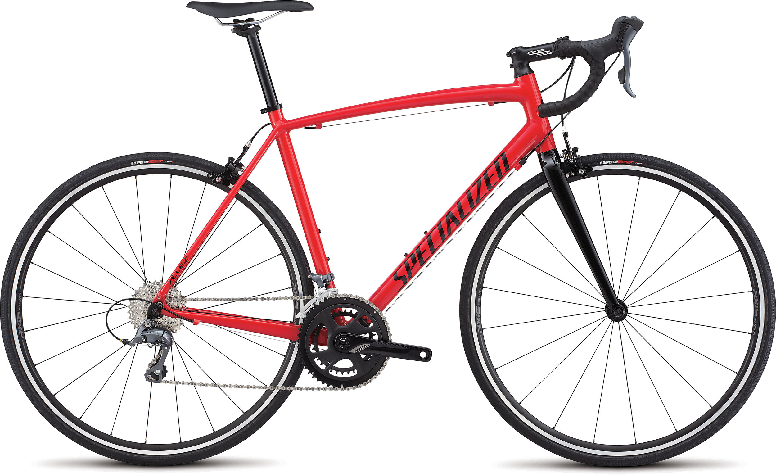 SPECIALIZED ALLEZ E5 FLORED/TARBLK 49 - Alpha Bikes