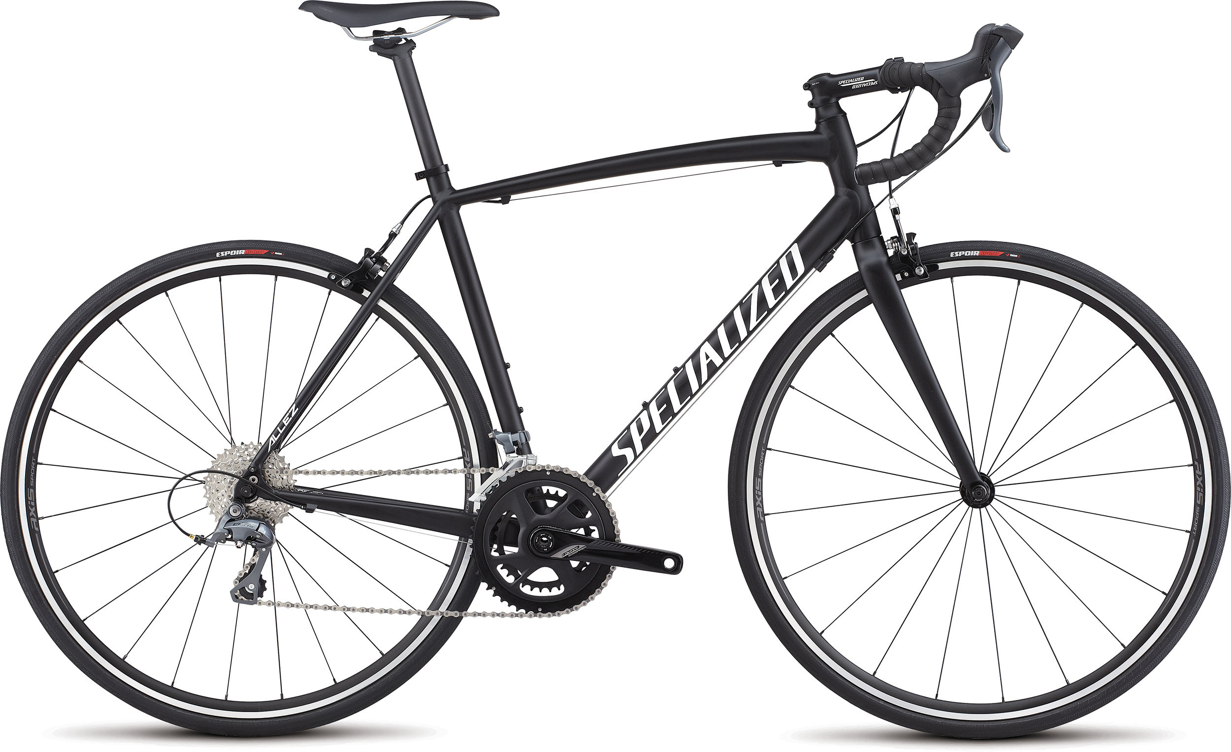 SPECIALIZED ALLEZ E5 BLK/WHT 49 - Bike Maniac