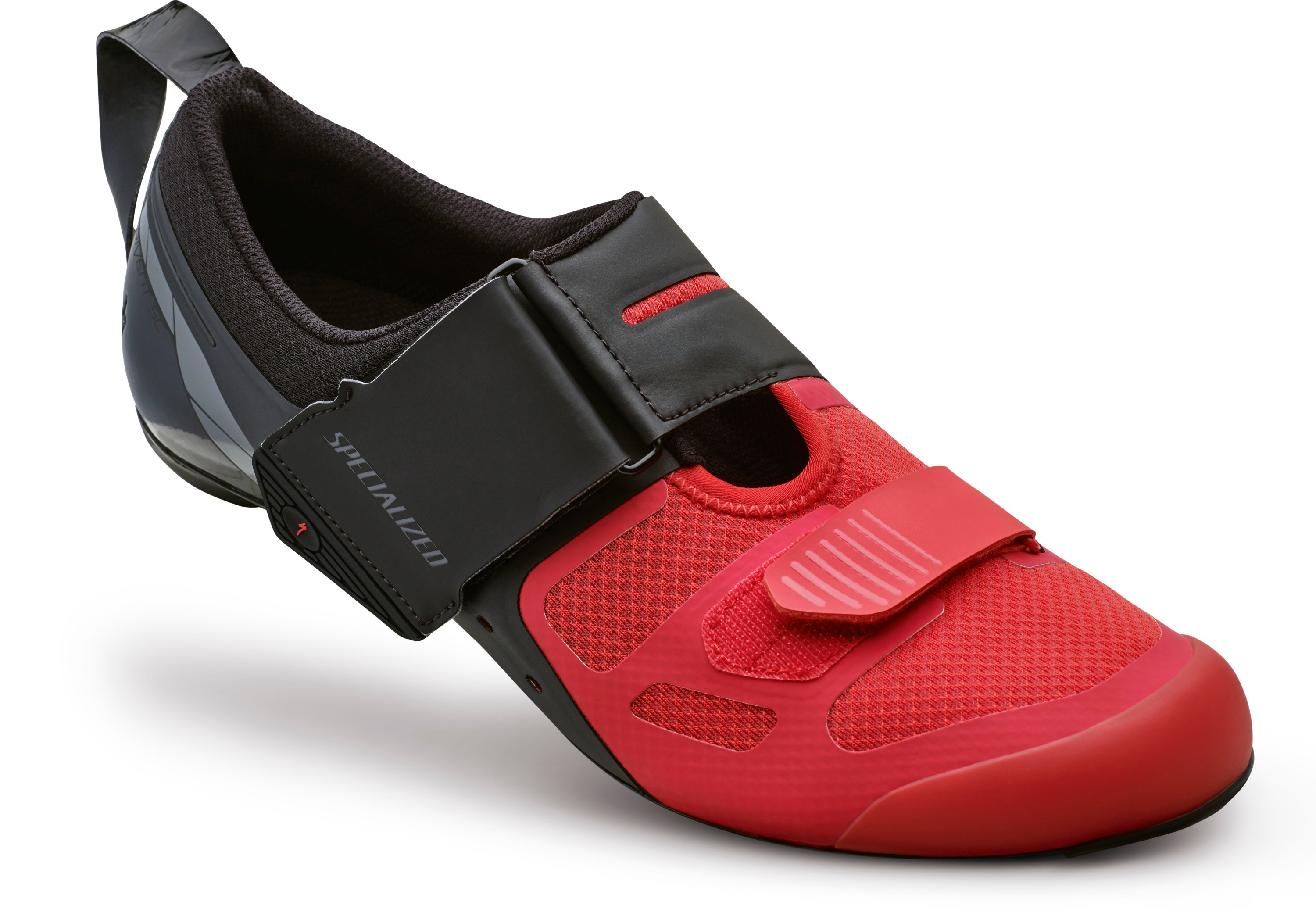 SPECIALIZED TRIVENT SC RD SHOE BLK/RED 40/7.5 - Alpha Bikes