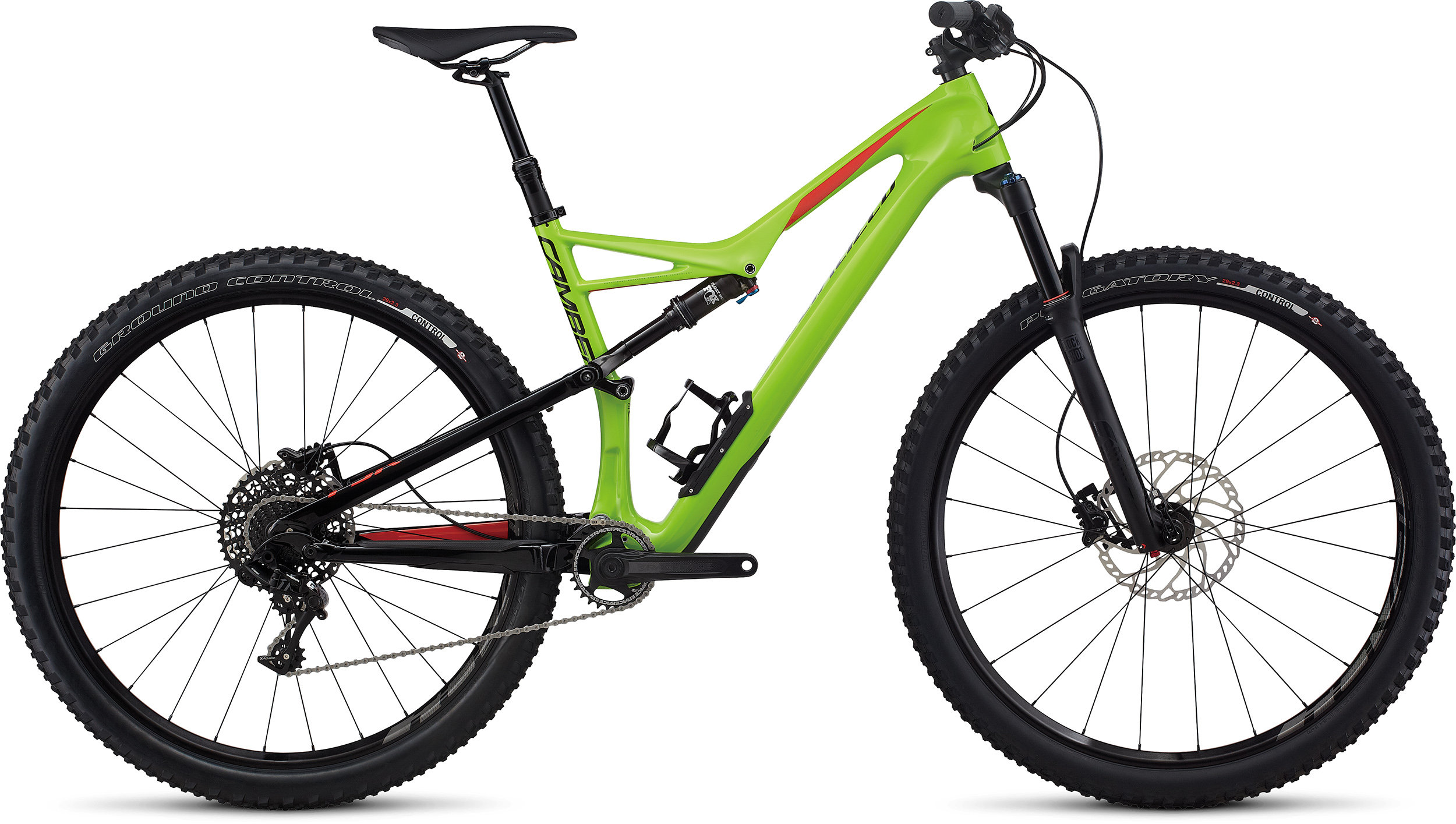 SPECIALIZED CAMBER FSR COMP CARBON 29 MONGRN/NRDCRED L - Pulsschlag Bike+Sport