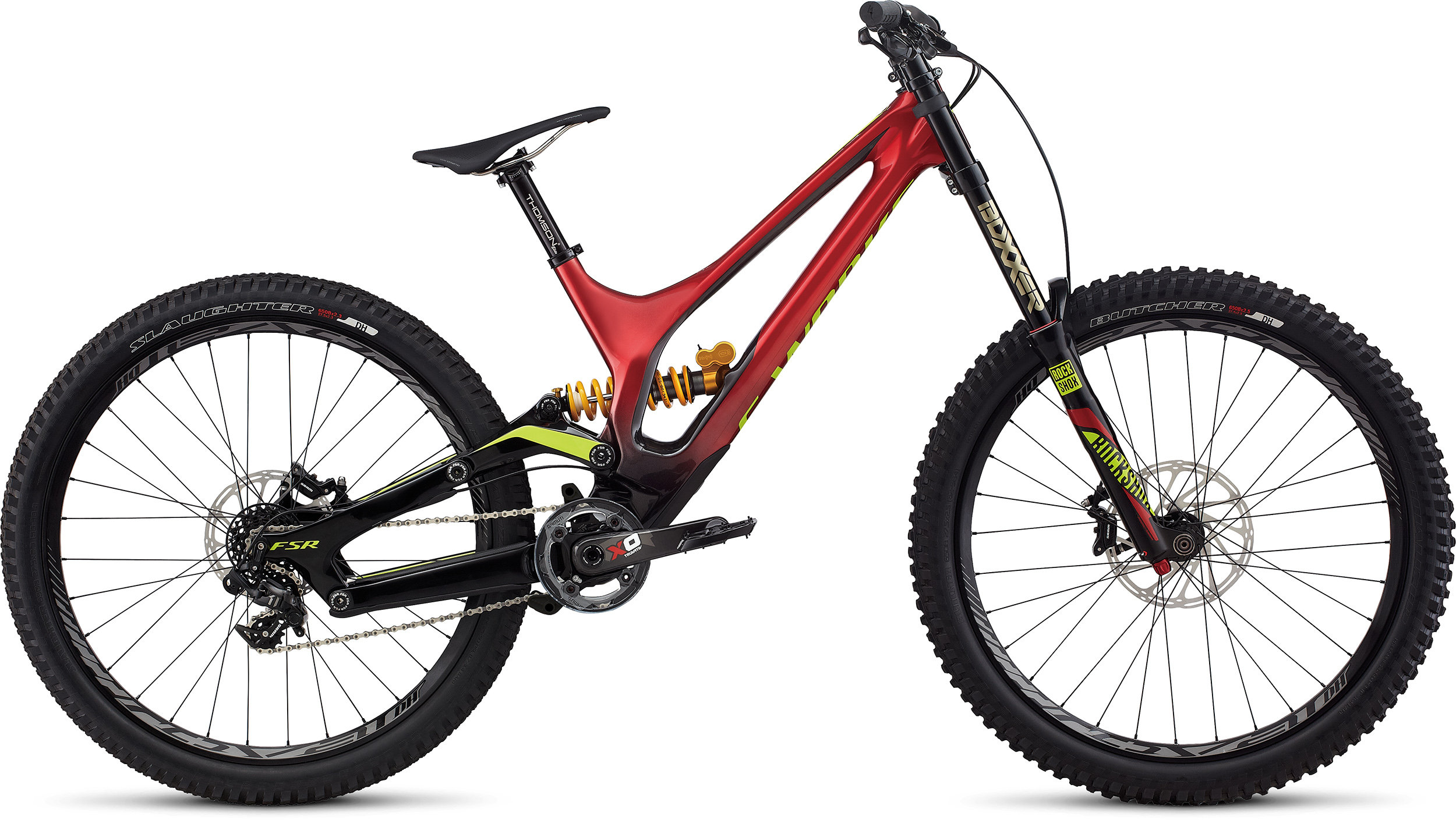 SPECIALIZED SW DEMO 8 FSR CARBON 650B CNDYRED/BLK/HYP LNG - Alpha Bikes