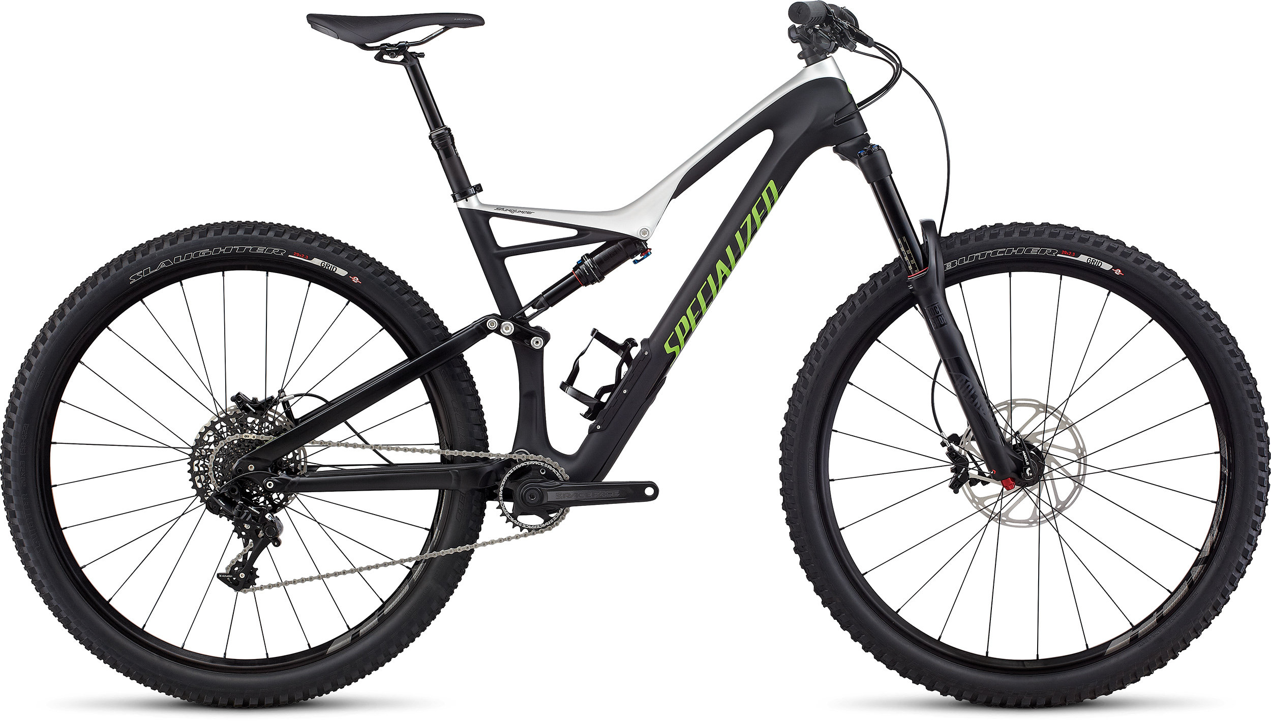 SPECIALIZED SJ FSR COMP CARBON 29 TARBLK/LTSIL/MONGRN L - Bike Zone