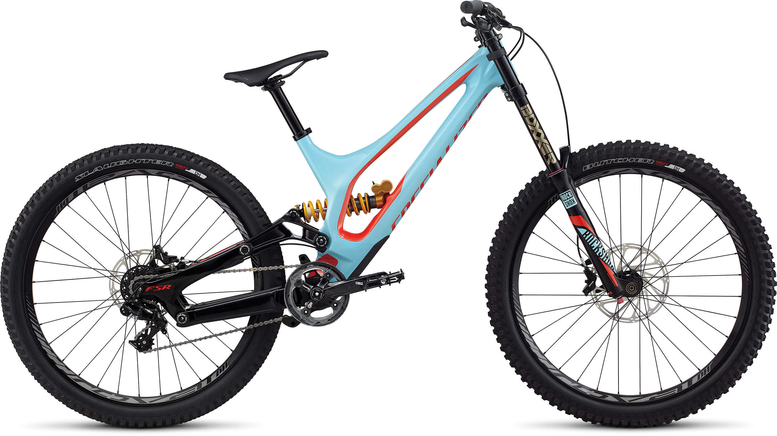 SPECIALIZED DEMO 8 FSR I CARBON 650B LTBLU/NRDCRED MD - Alpha Bikes