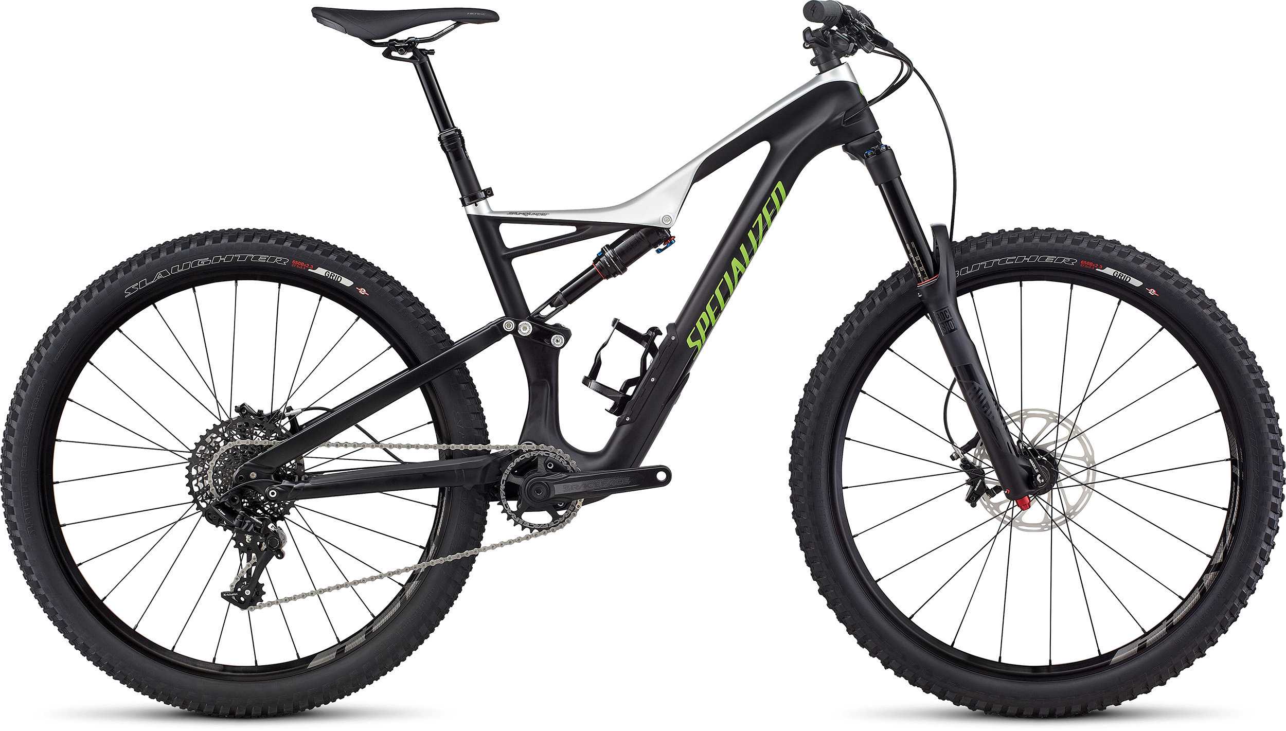 SPECIALIZED SJ FSR COMP CARBON 650B TARBLK/LTSIL/MONGRN L - Bike Zone