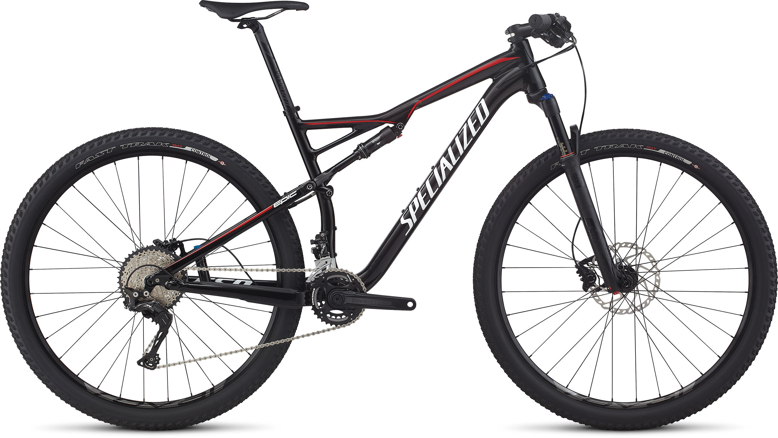 SPECIALIZED EPIC FSR COMP 29 BLK/WHT/FLORED S - SPECIALIZED EPIC FSR COMP 29 BLK/WHT/FLORED S