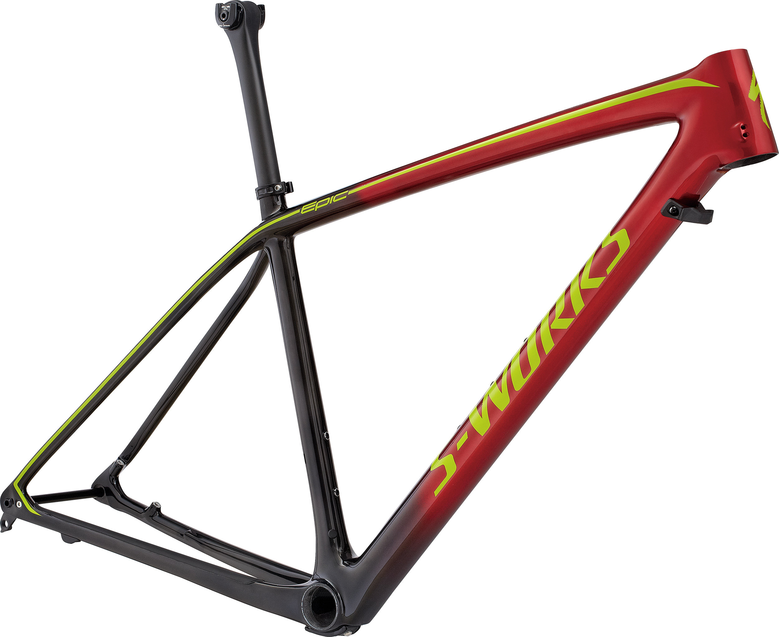 SPECIALIZED SW EPIC HT CARBON 29 FRM BLK/CNDYRED/HYP XL - SPECIALIZED SW EPIC HT CARBON 29 FRM BLK/CNDYRED/HYP XL