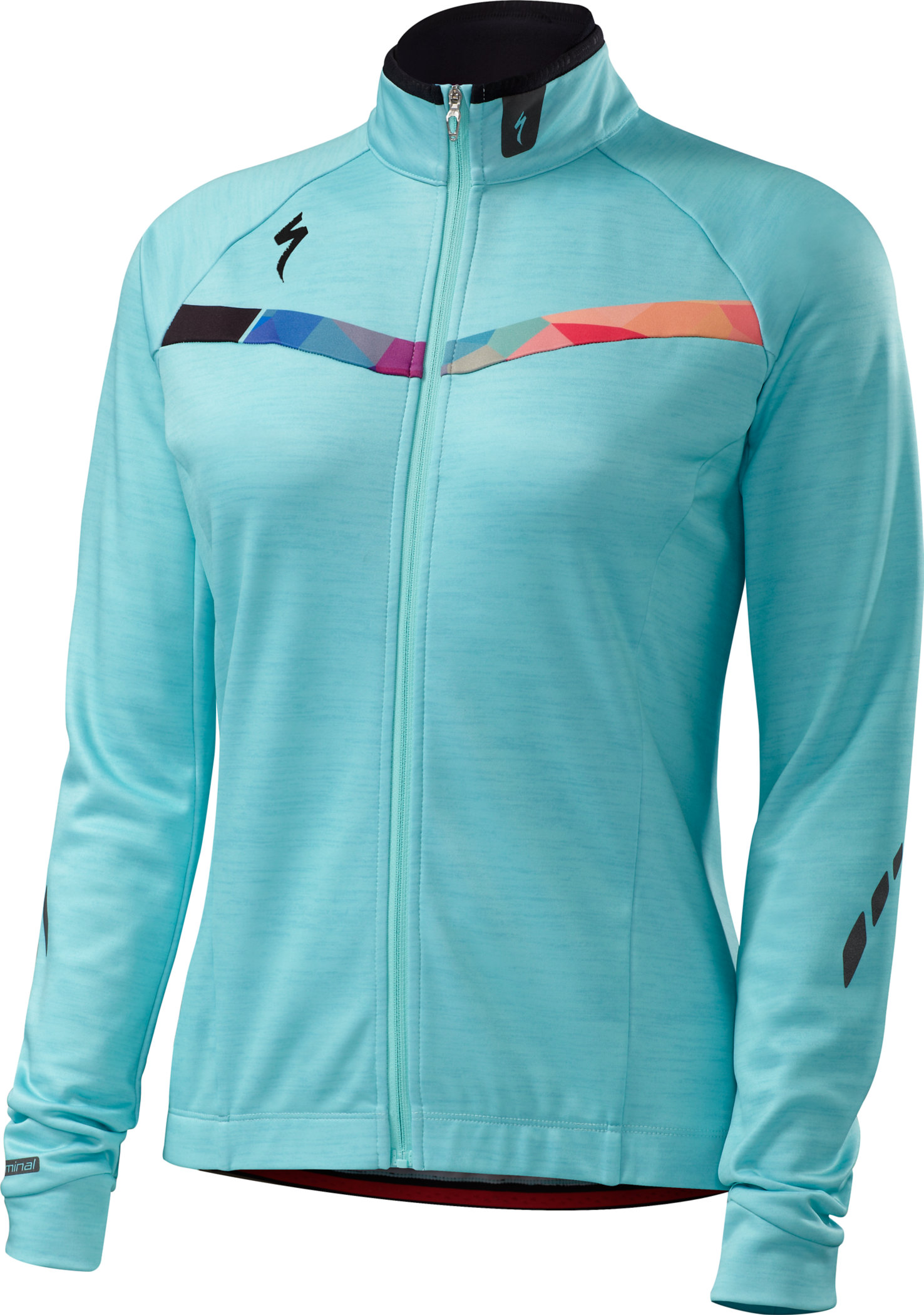 SPECIALIZED THERMINAL JERSEY LS WMN TUR/GEO FADE M - Alpha Bikes