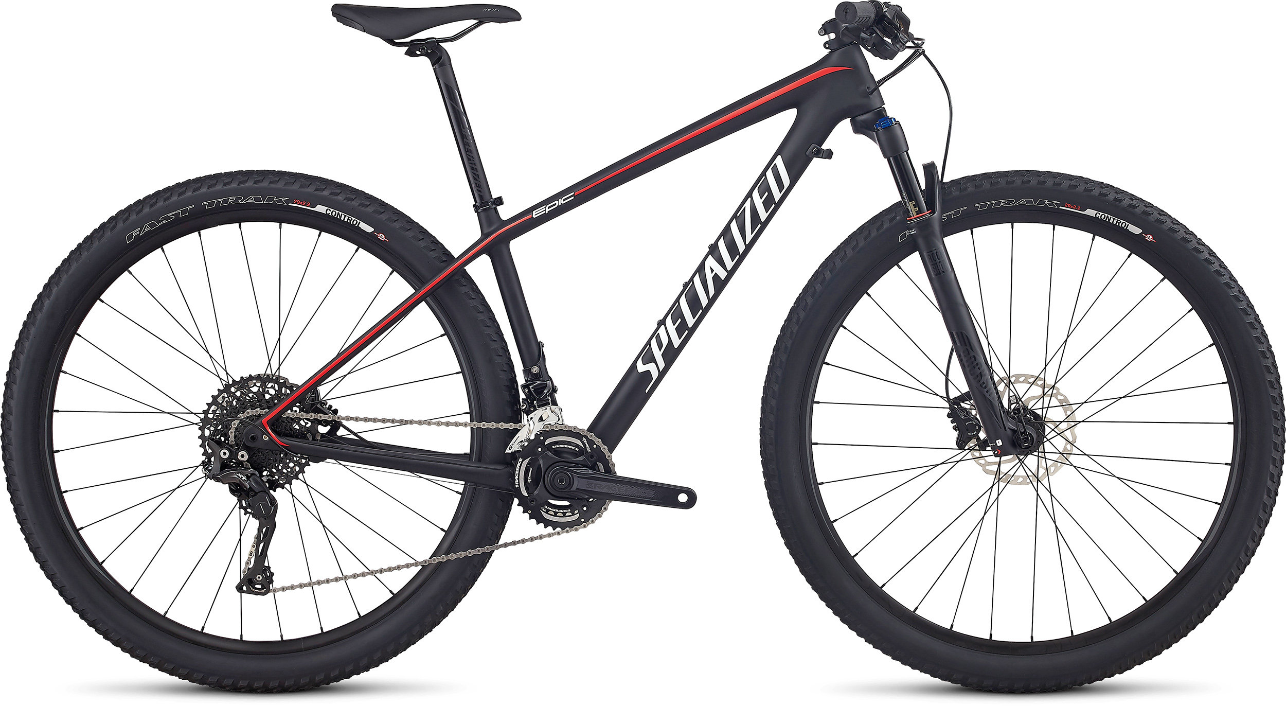 SPECIALIZED EPIC HT WMN COMP CARBON 29 TARBLK/NRDCRED/METWHTSIL L - Alpha Bikes