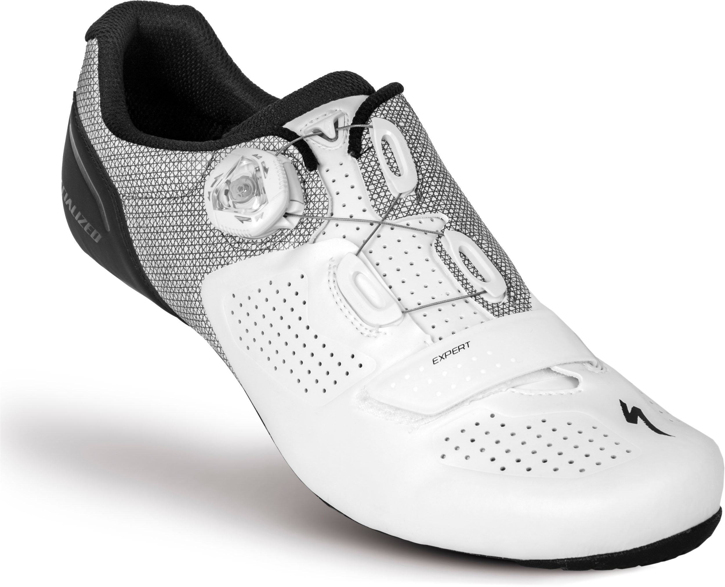SPECIALIZED EXPERT RD SHOE WHT/BLK 39/6.5 - Bikedreams & Dustbikes