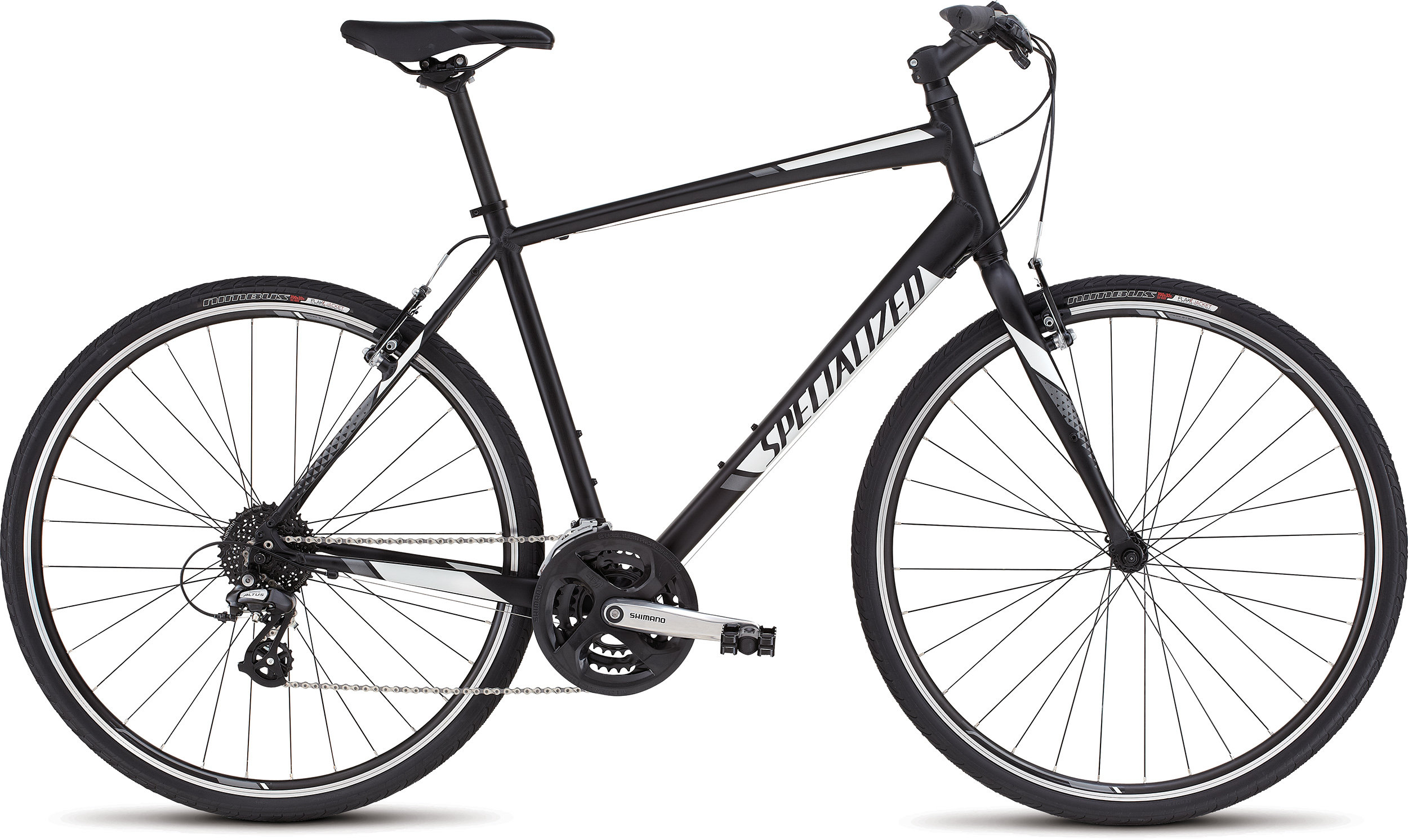 SPECIALIZED SIRRUS BLK/WHT/CHAR XS - Bikedreams & Dustbikes