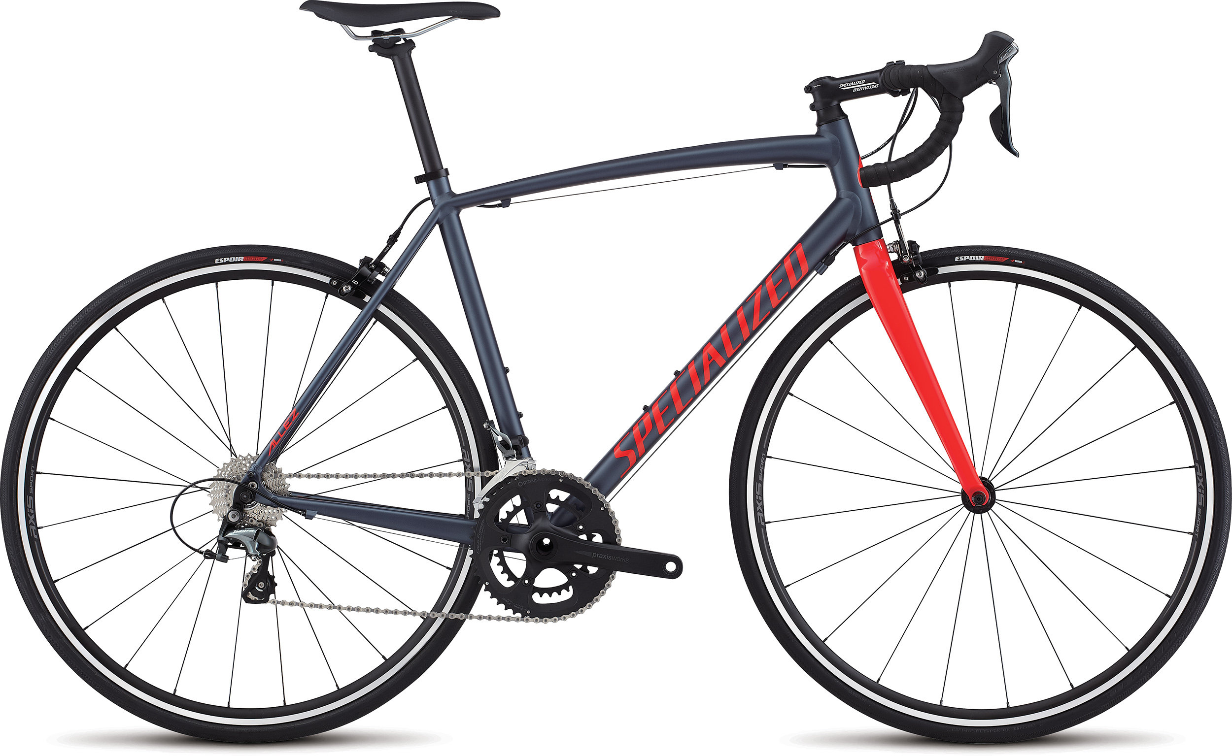 SPECIALIZED ALLEZ E5 ELITE INK/RKTRED 49 - Alpha Bikes