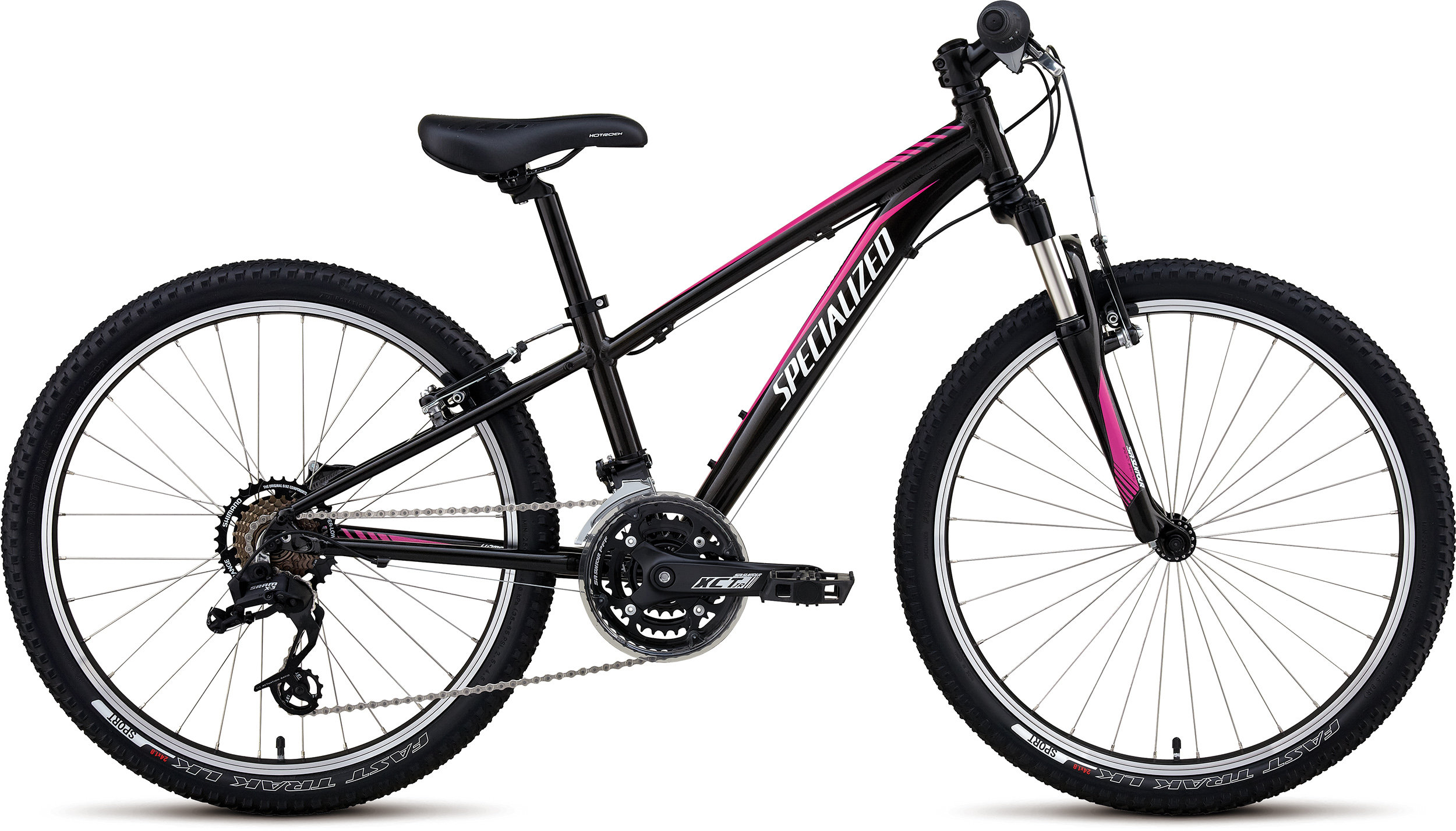 SPECIALIZED HTRK 24 XC GIRL BLK/PNK/WHT 11 - Bikedreams & Dustbikes