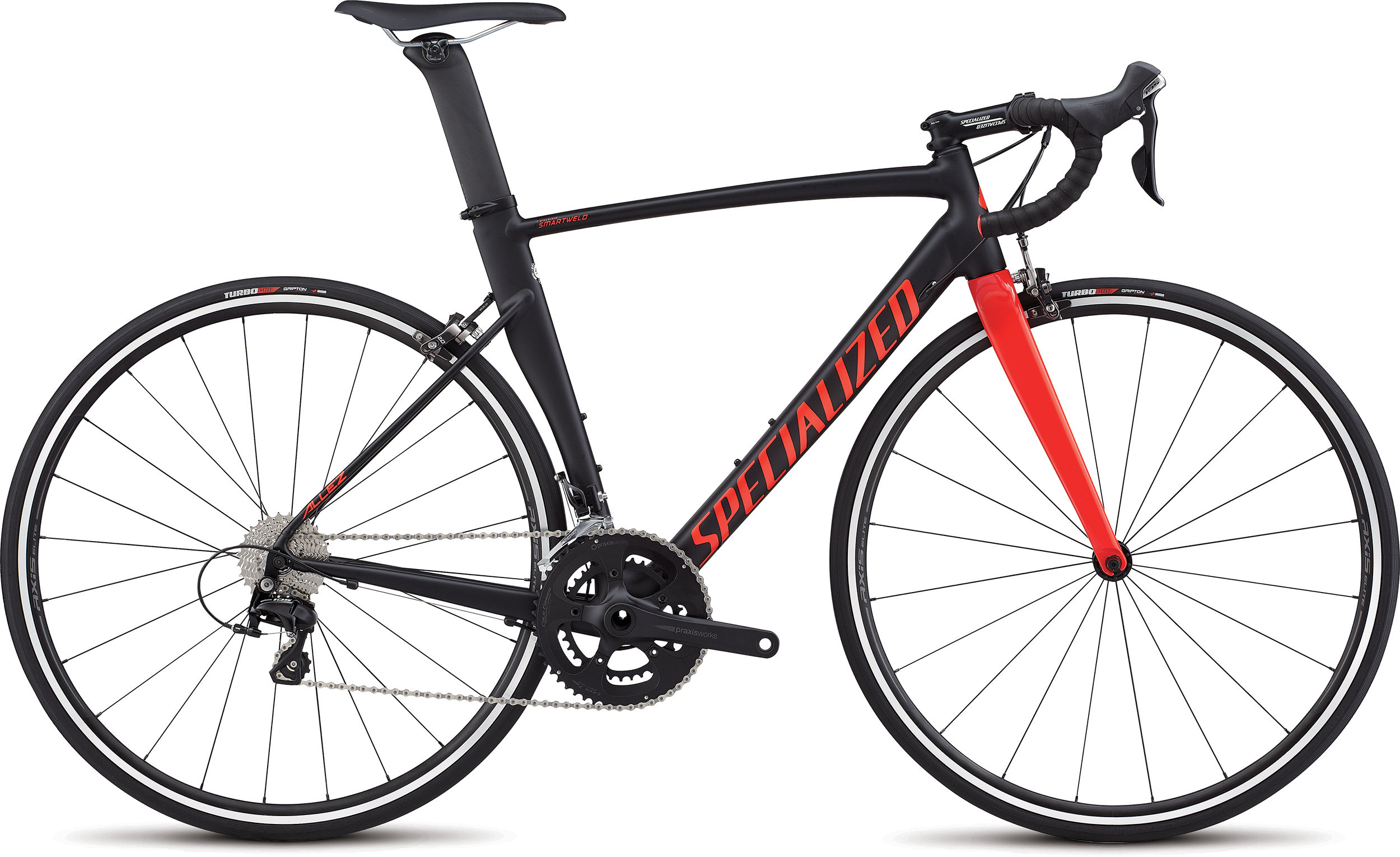 SPECIALIZED ALLEZ DSW SL SPRINT COMP BLK/RKTRED 49 - Bike Maniac