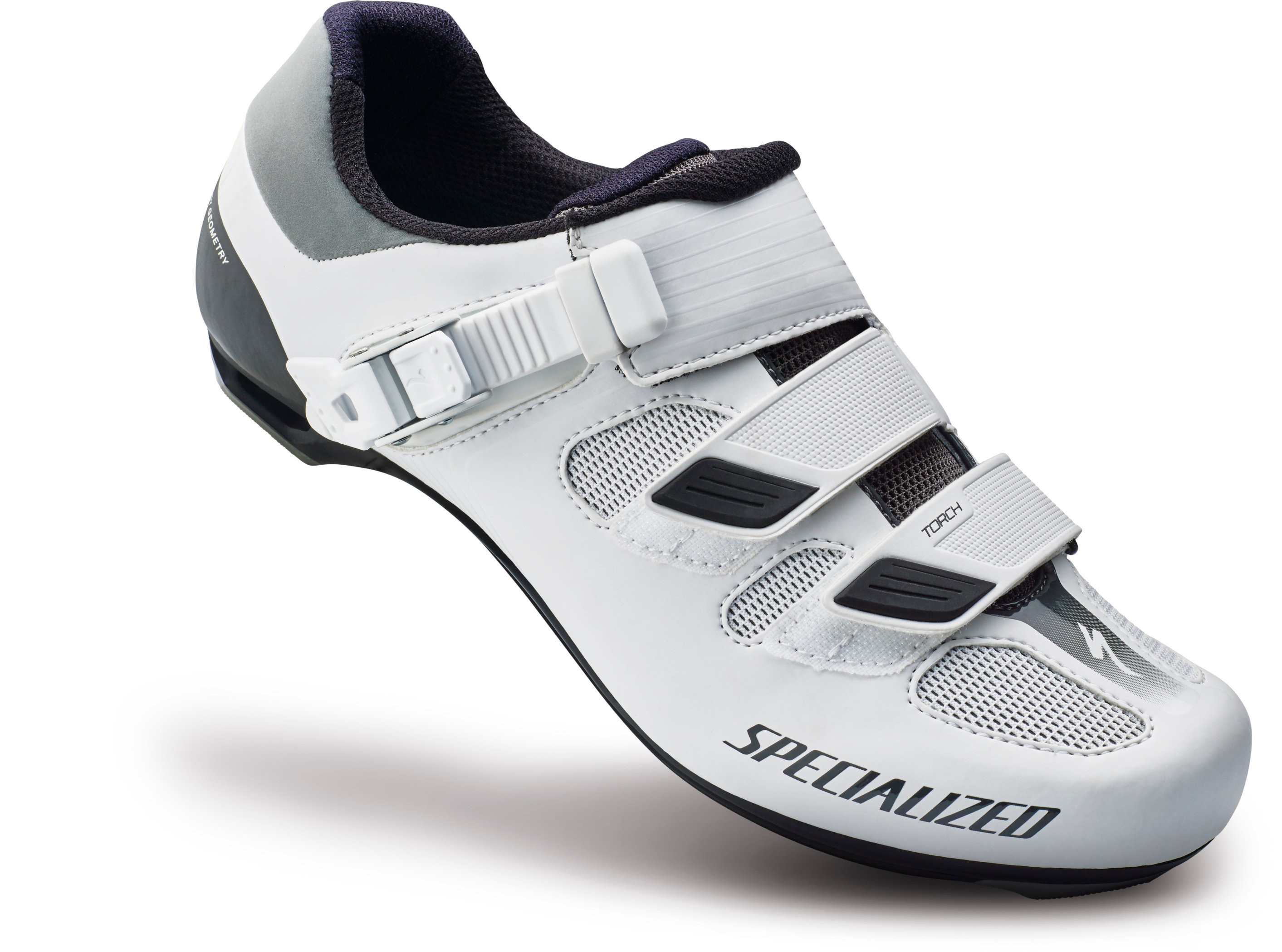 SPECIALIZED TORCH RD SHOE WMN WHT 39/8 - Bike Zone