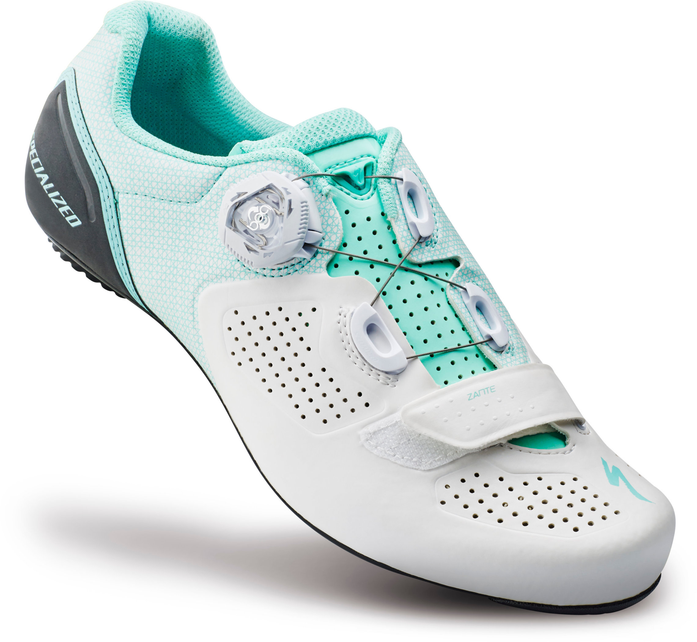 SPECIALIZED ZANTE RD SHOE WMN WHT/LTTUR 39/8 - Bike Zone