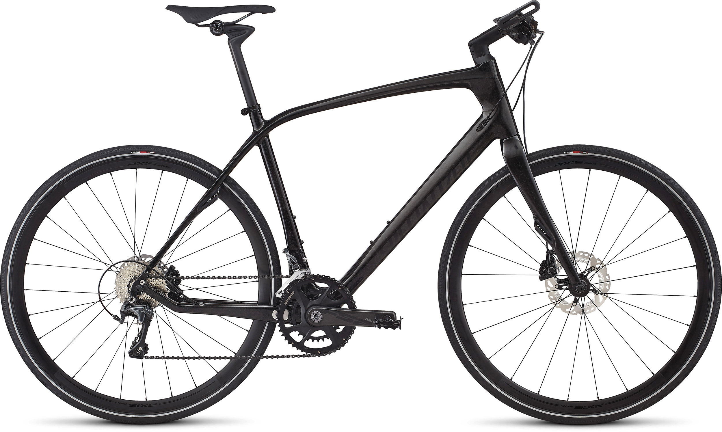 SPECIALIZED SIRRUS PRO CARBON RFBLKTNT/BLK L - Bike Zone