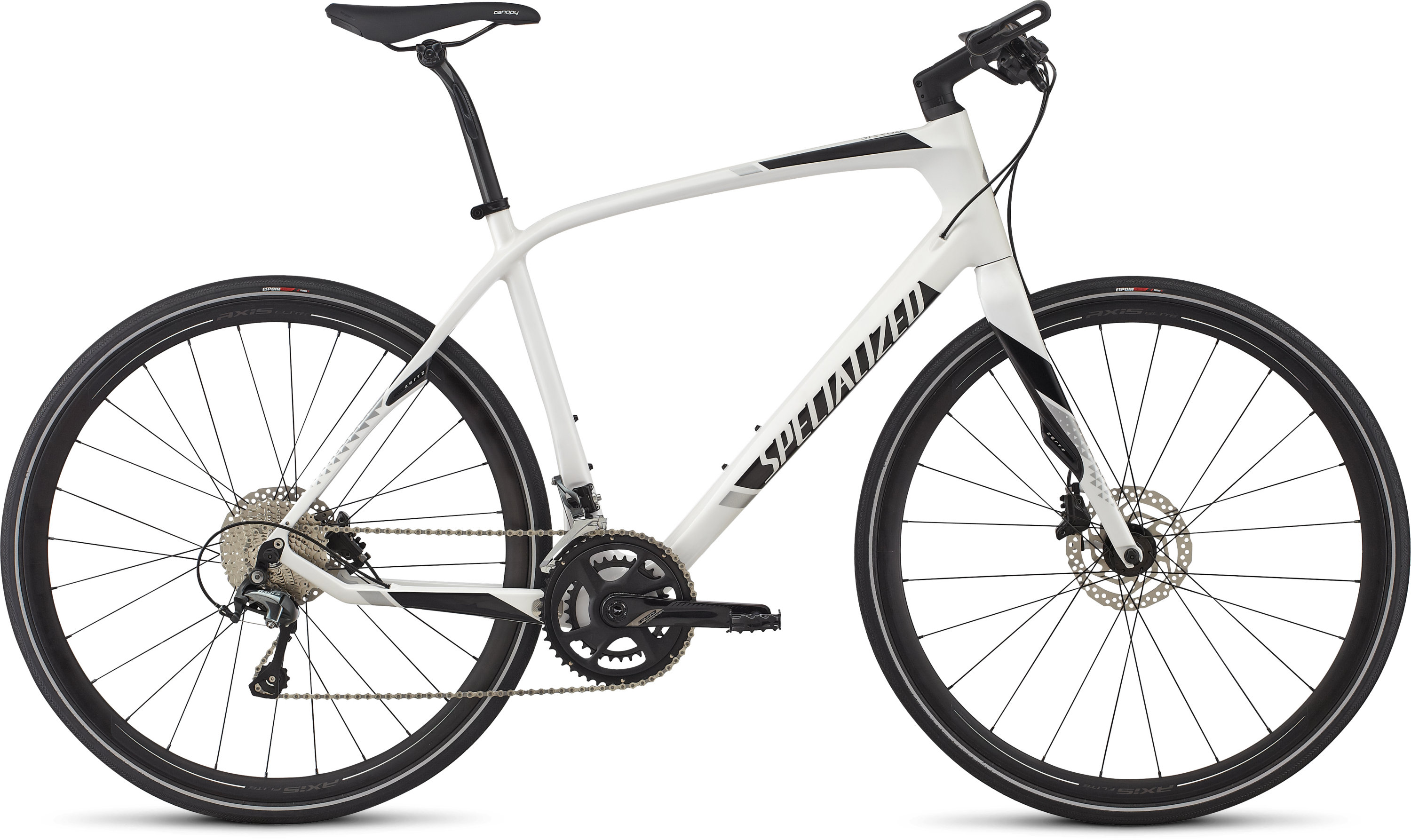 SPECIALIZED SIRRUS COMP CARBON METWHTSIL/BLK/LTSIL L - Bike Zone