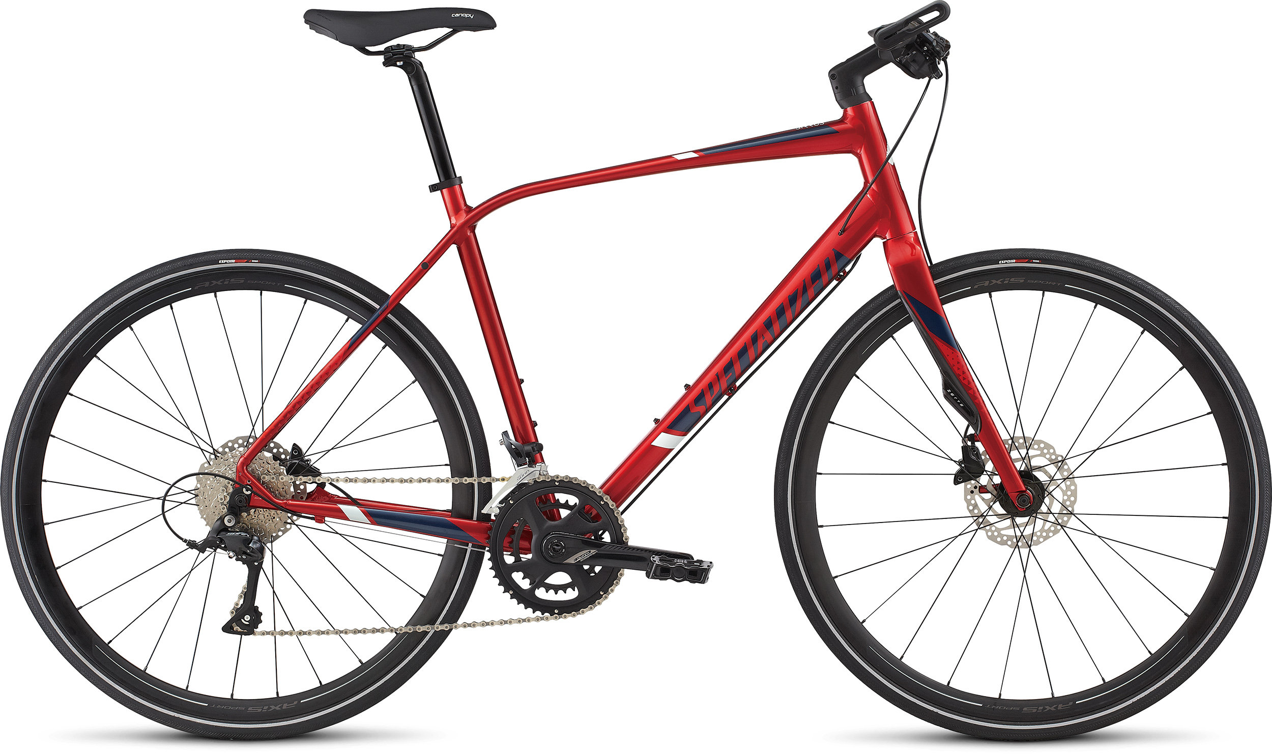 SPECIALIZED SIRRUS ELITE CNDYRED/NVY/BBYBLU L - Bike Zone