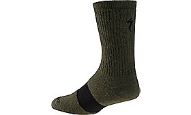 WINTER WOOL SOCK OAKGRN HTHR S/M