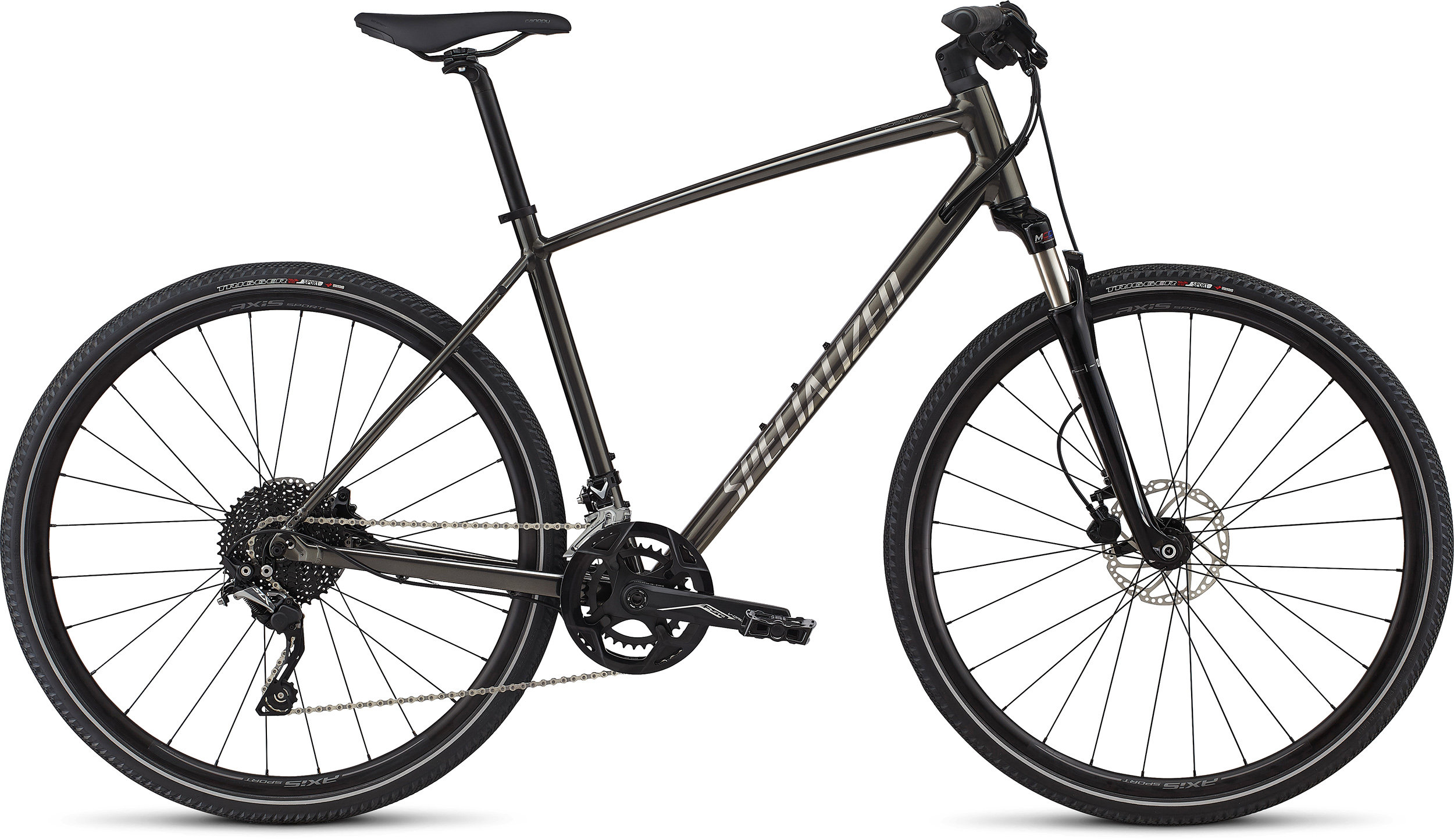 Specialized CrossTrail Elite Alloy GLOSS BLACK CHROME / CHROME / CHARCOAL L - Alpha Bikes