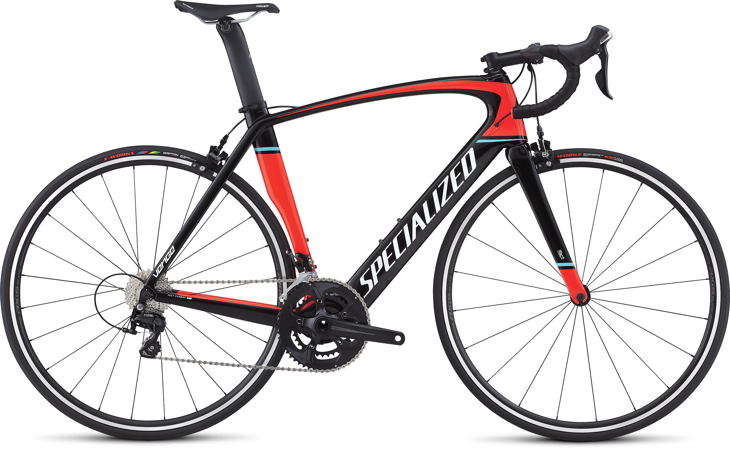 Specialized Venge Elite GLOSS TARMAC BLACK / ROCKET RED / METALLIC WHITE 49 - Pulsschlag Bike+Sport