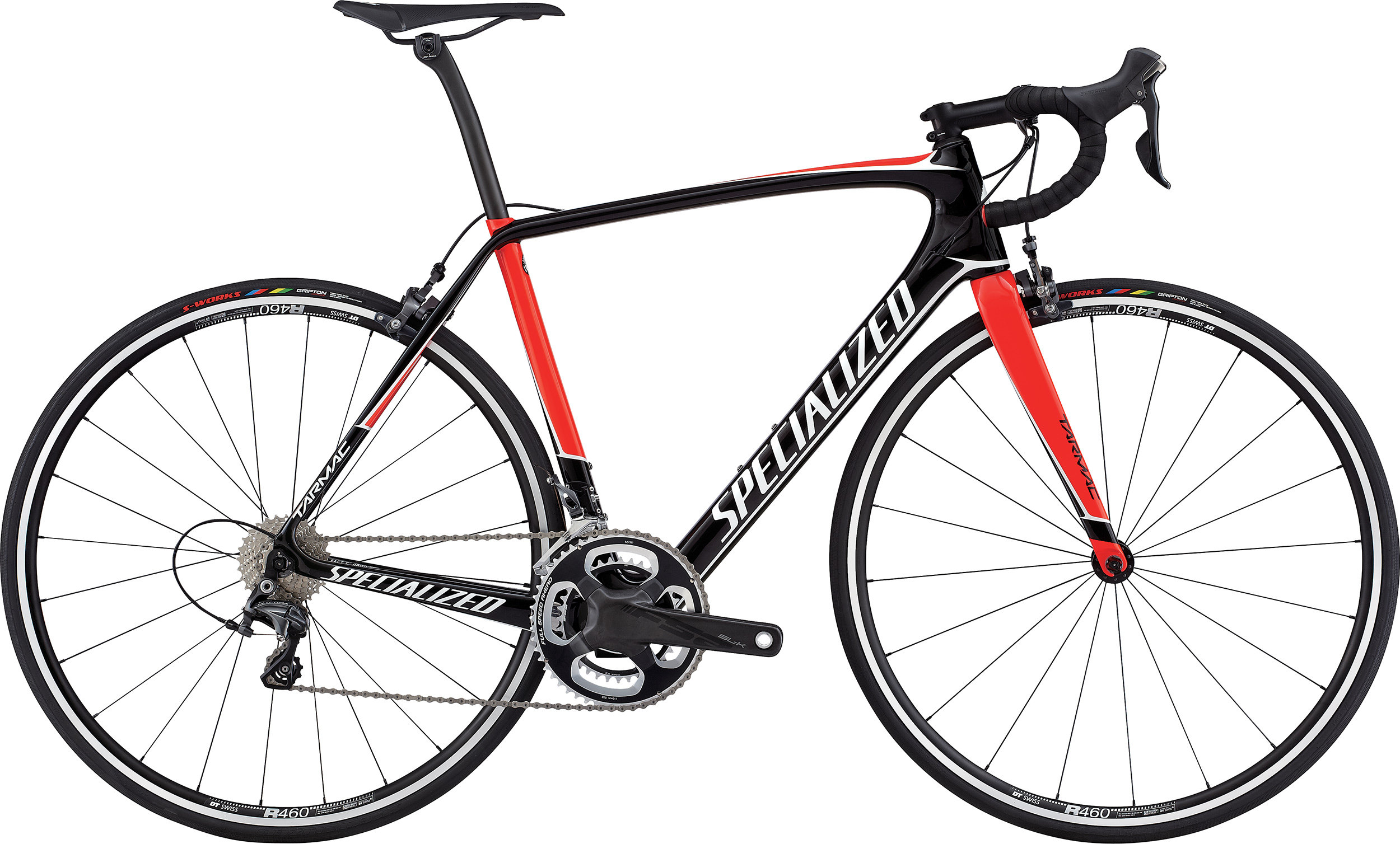 SPECIALIZED TARMAC EXPERT TARBLK/RKTRED/METWHT 49 - Pulsschlag Bike+Sport