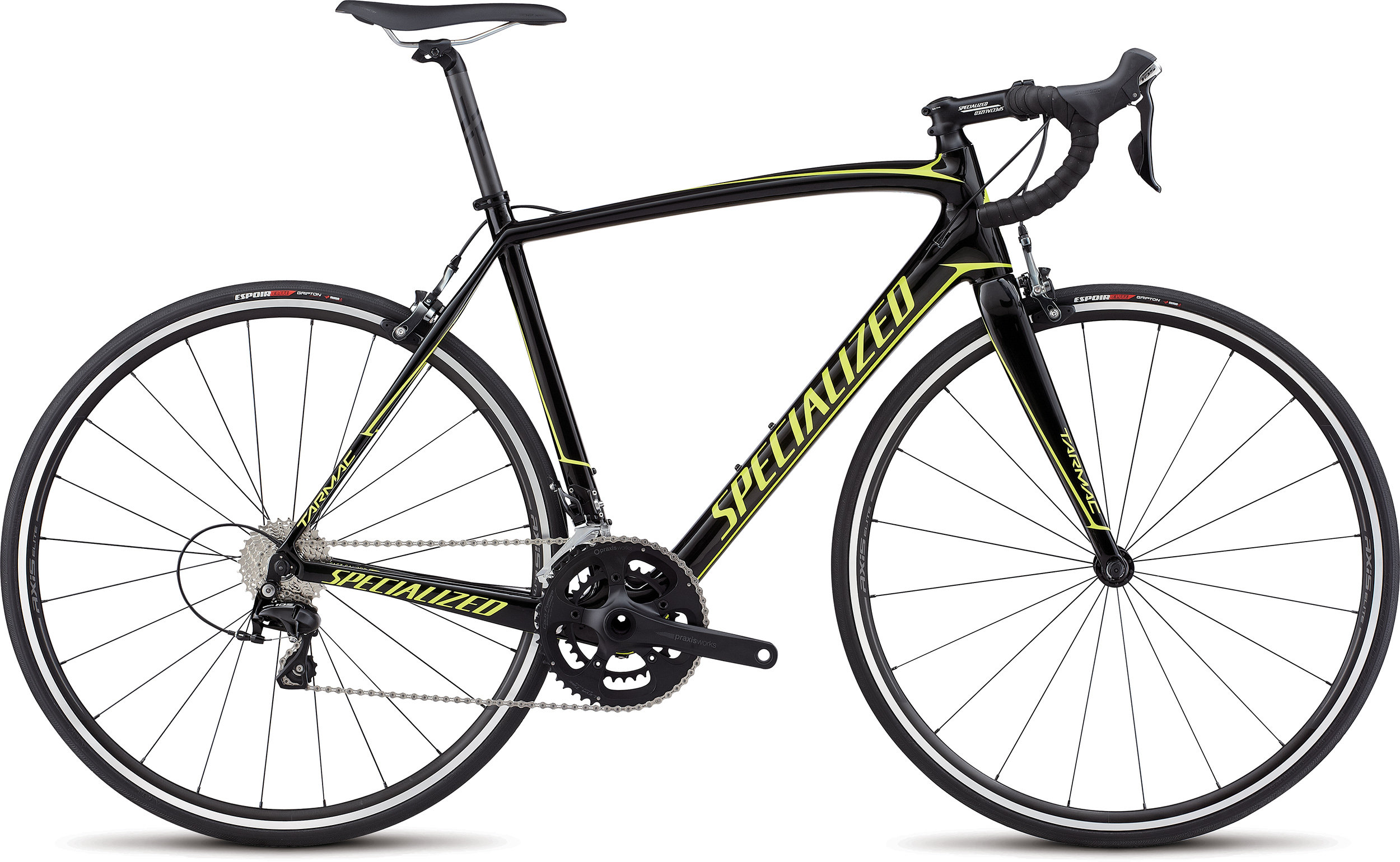 Specialized Tarmac SL4 Sport GLOSS TARMAC BLACK/TEAM YELLOW 56 - Alpha Bikes