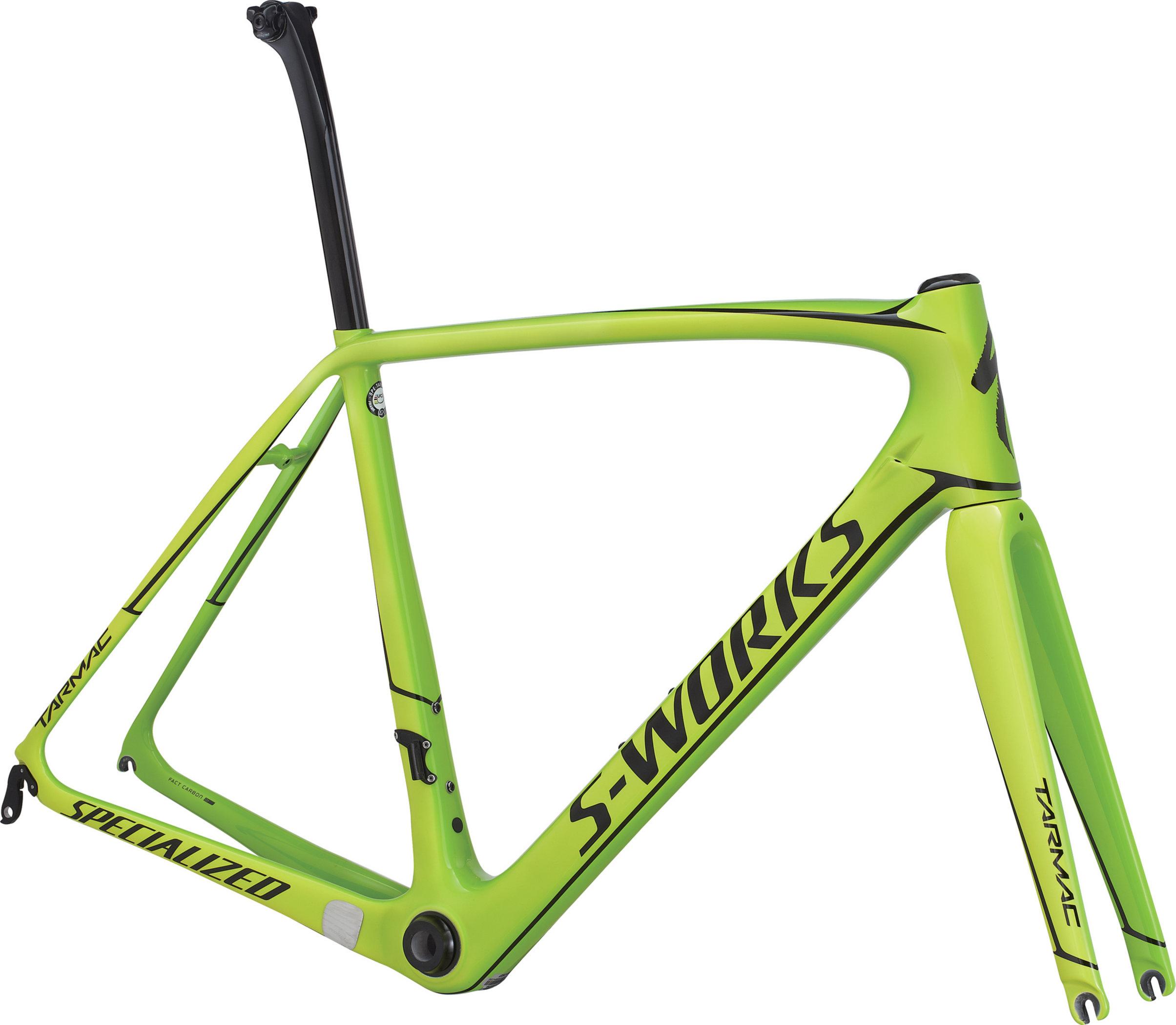 SPECIALIZED SW TARMAC FRMSET MONGRN/TEAMYEL/TARBLK 49 - Pulsschlag Bike+Sport