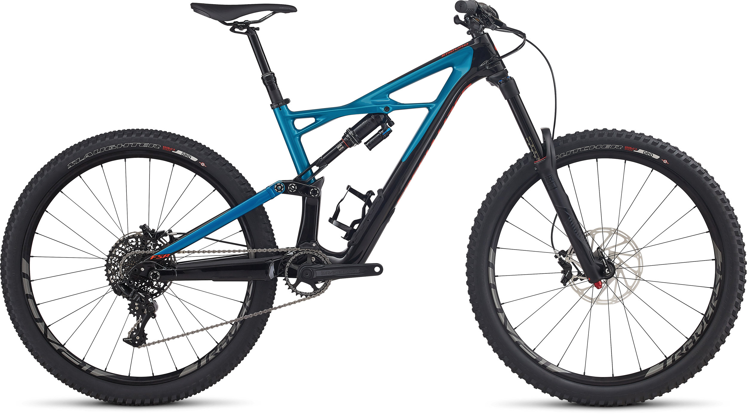 SPECIALIZED ENDURO FSR ELITE CARBON 650B BLK/MRNBLU/RKTRED L - Bike Zone