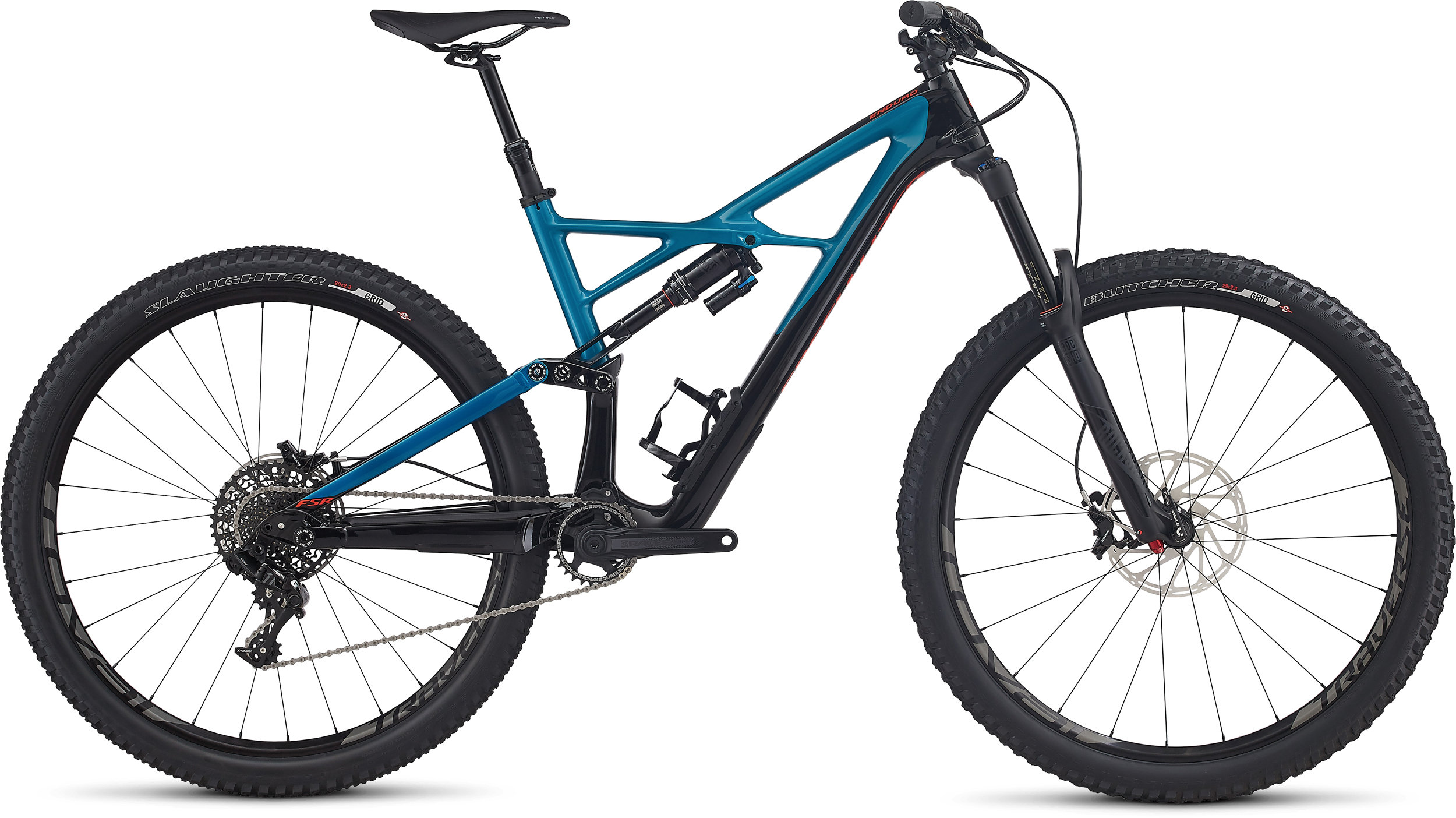 SPECIALIZED ENDURO FSR ELITE CARBON 29/6FATTIE BLK/MRNBLU/RKTRED S - Bikedreams & Dustbikes