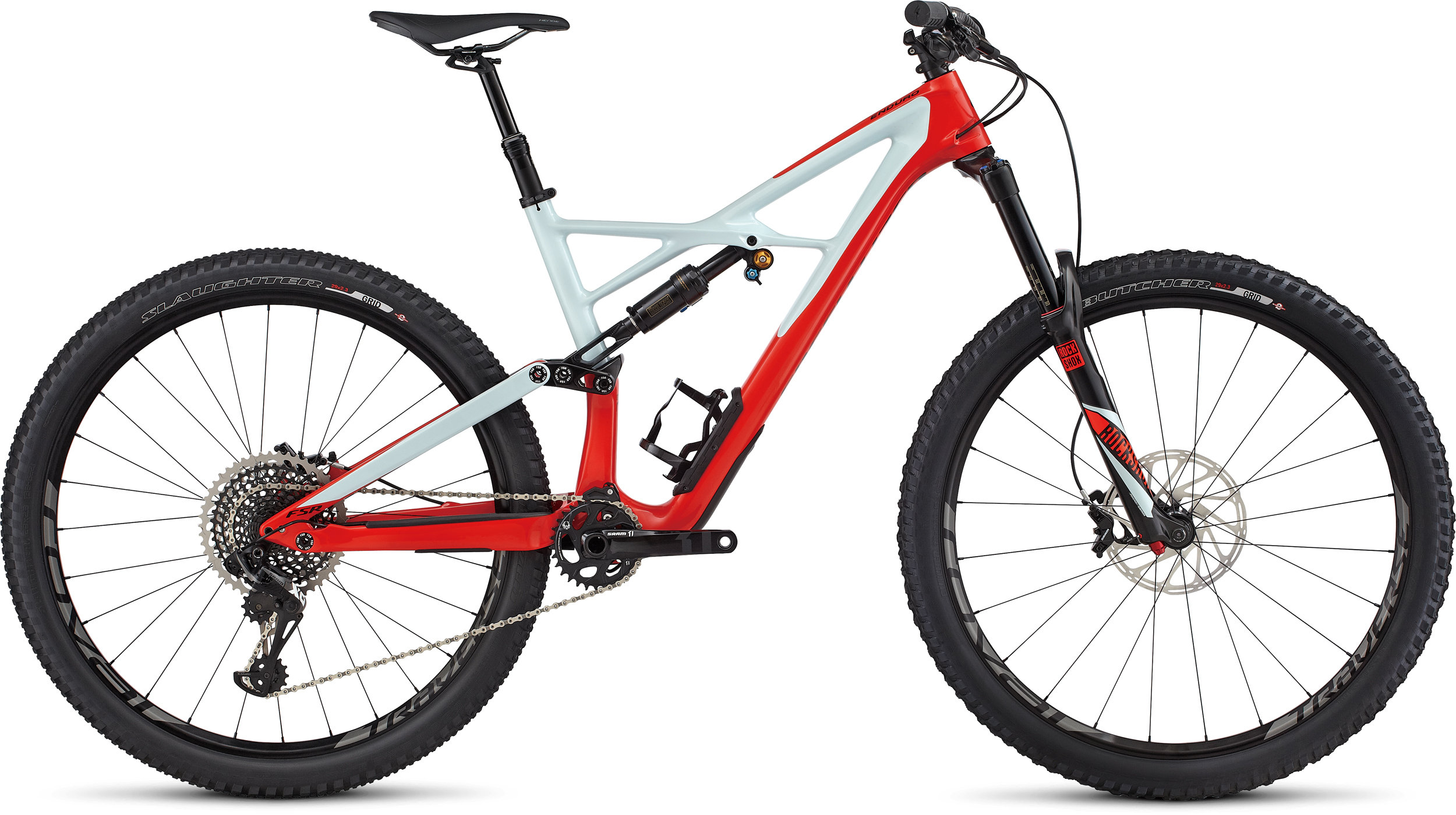 SPECIALIZED ENDURO FSR PRO CARBON 29/6FATTIE RKTRED/BBYBLU/BLK L - Bike Zone