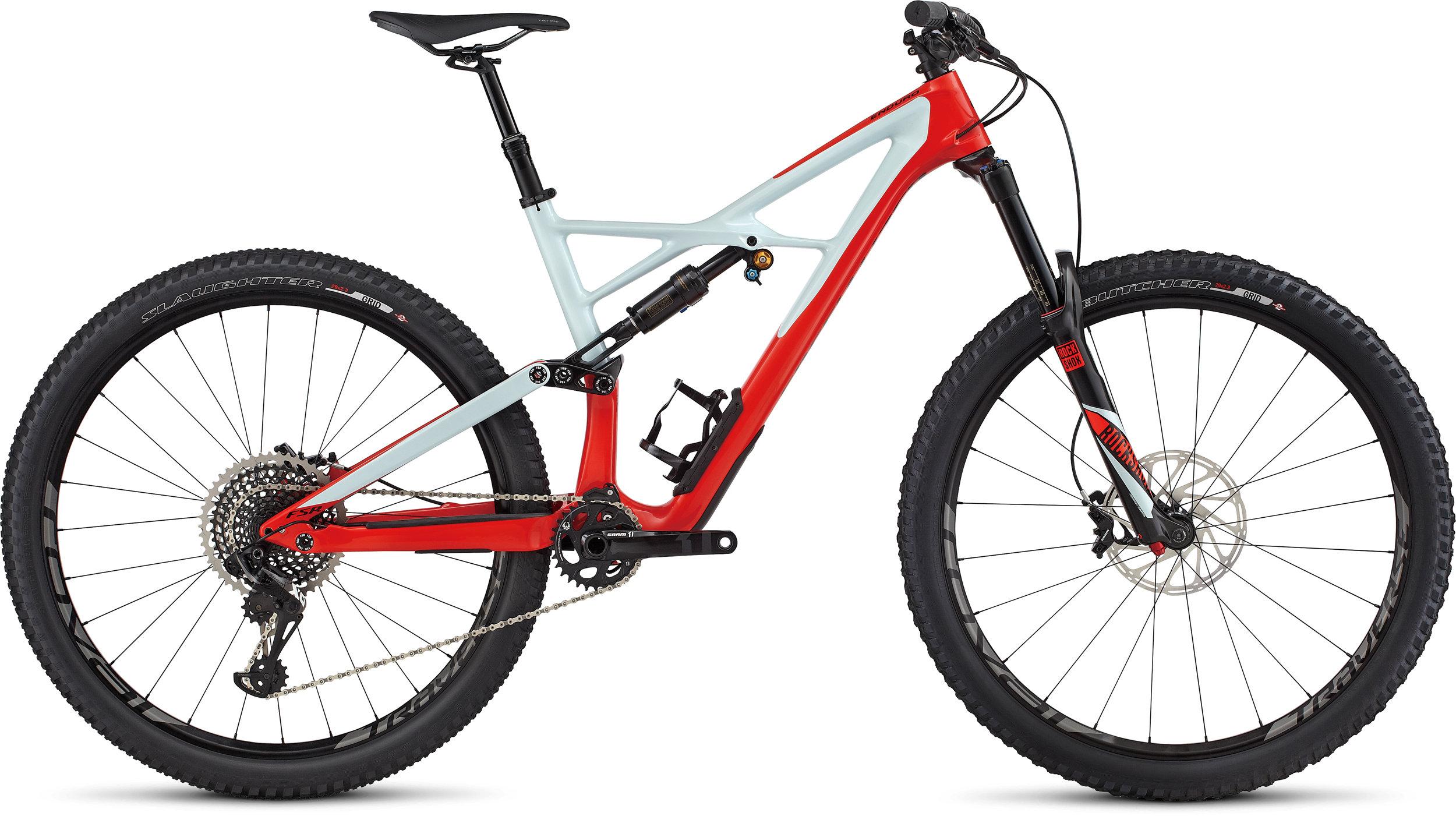 SPECIALIZED ENDURO FSR PRO CARBON 29/6FATTIE RKTRED/BBYBLU/BLK L - Alpha Bikes