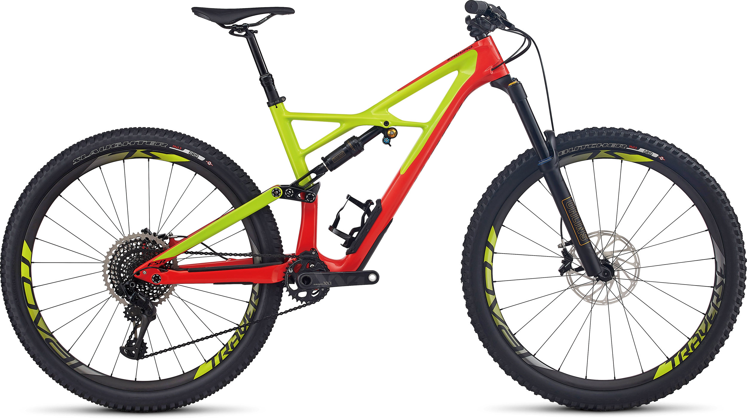 SPECIALIZED SW ENDURO FSR CARBON 29/6FATTIE NRDCRED/HYP/BLK L - Pulsschlag Bike+Sport