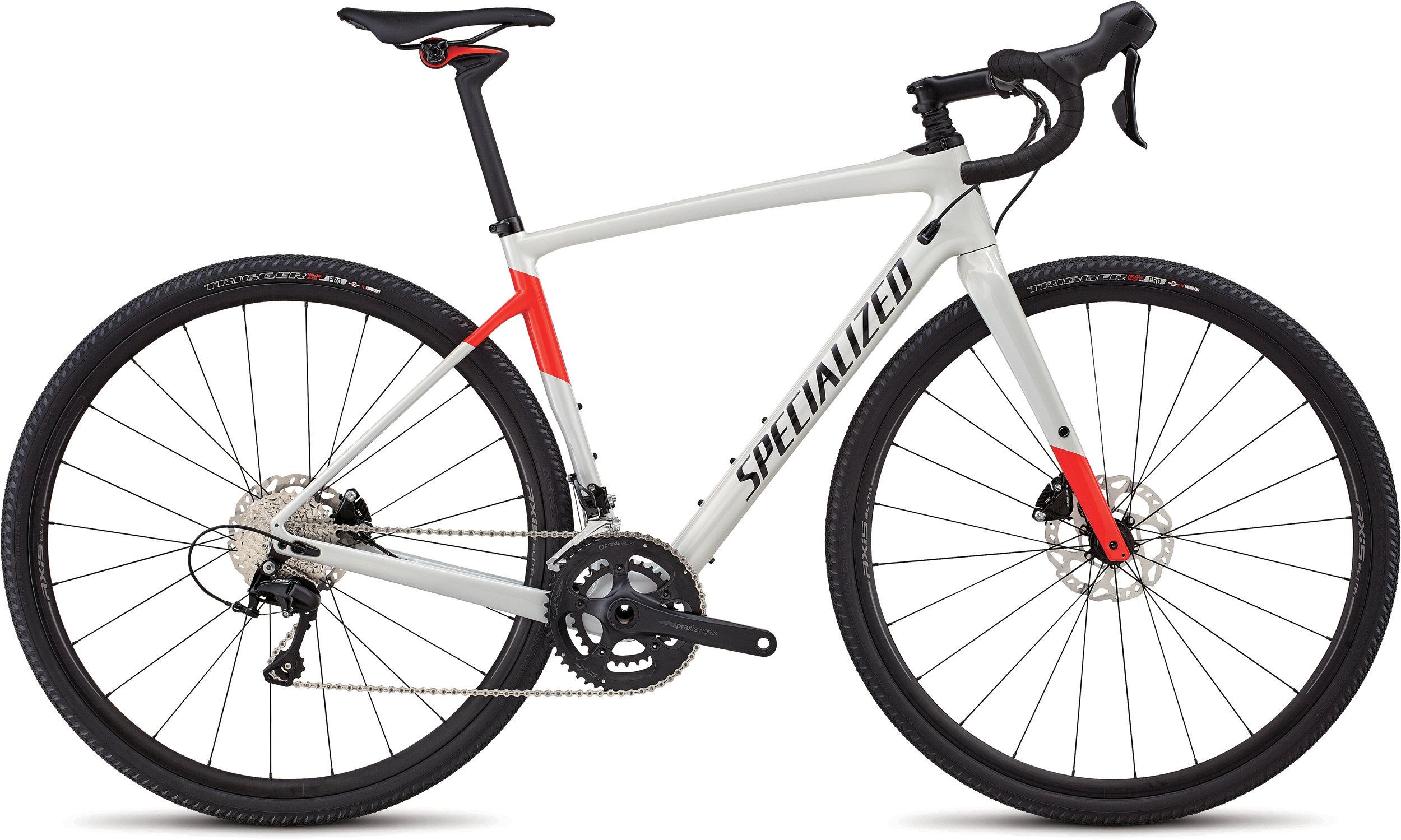 Specialized Men´s Diverge Comp Gloss Dirty White/Rocket Red/Tarmac Black 48 - Bartz Bikesystem & Velodepot