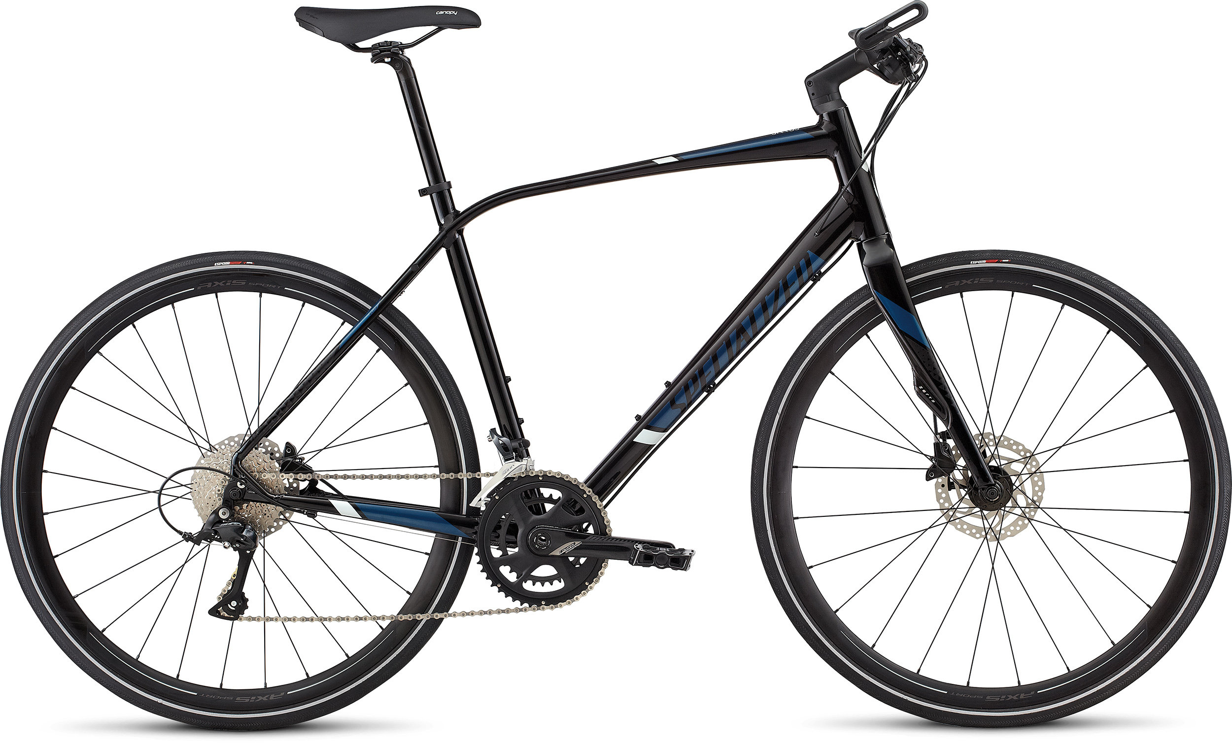 SPECIALIZED SIRRUS ELITE TARBLK/CBRBLU/BBYBLU L - Bike Zone