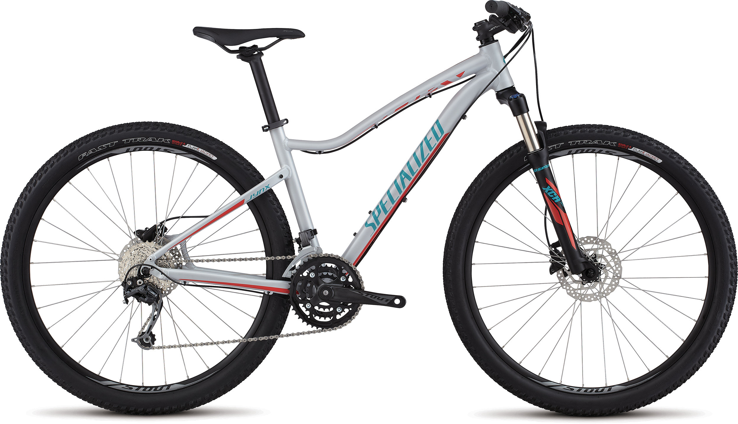 SPECIALIZED JYNX COMP 650B FTHYWHT/NRDCRED/TUR L - Bike Zone