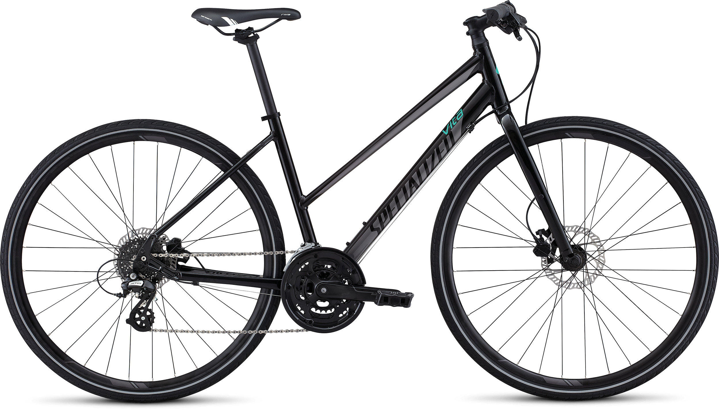 SPECIALIZED VITA DISC ST INT METBLK/DRMSIL/EMDGRN S - Bikedreams & Dustbikes