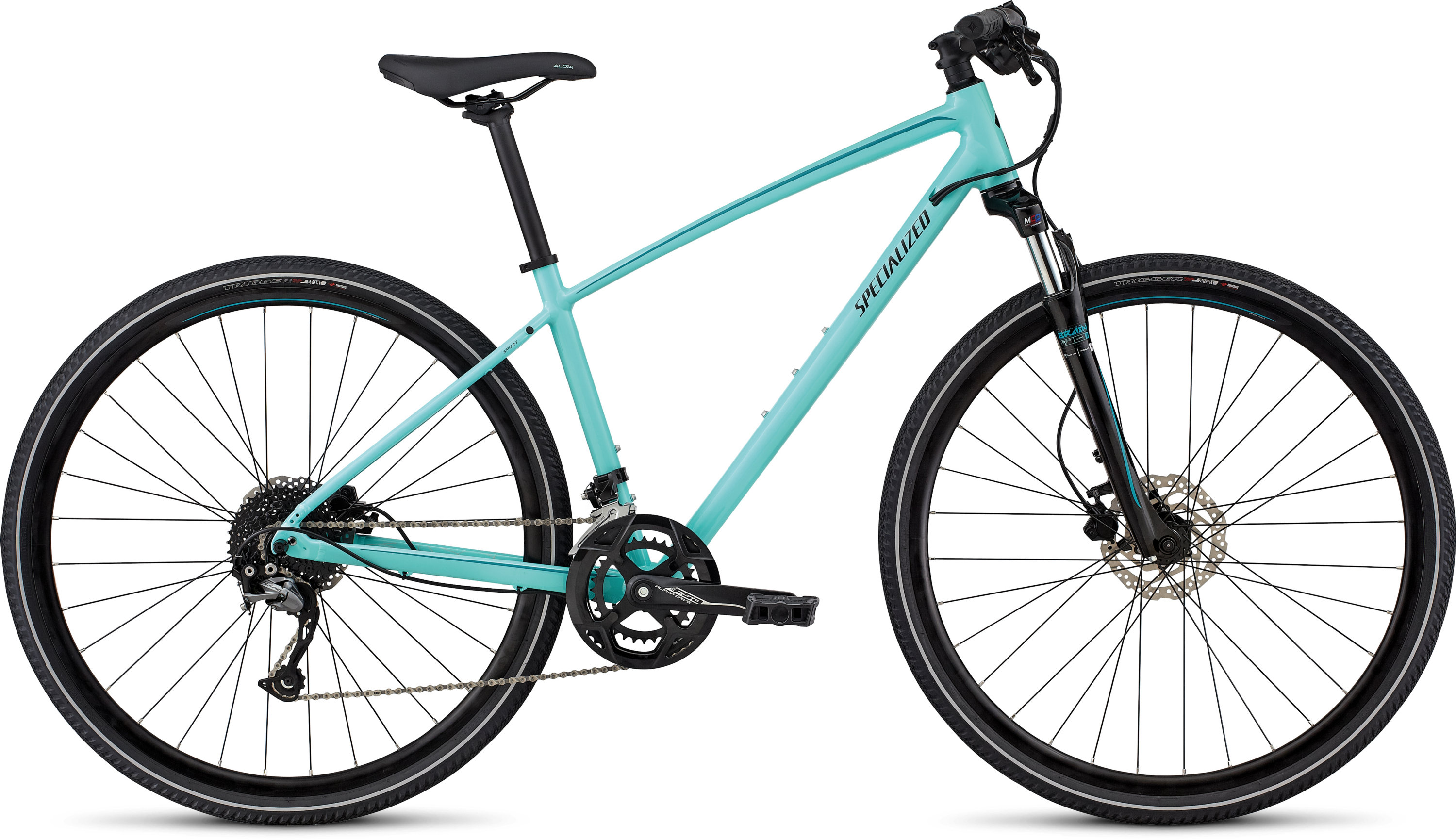 Specialized Ariel Sport GLOSS LT TURQUOISE/TURQUOISE/TARMAC BLACK L - Pulsschlag Bike+Sport